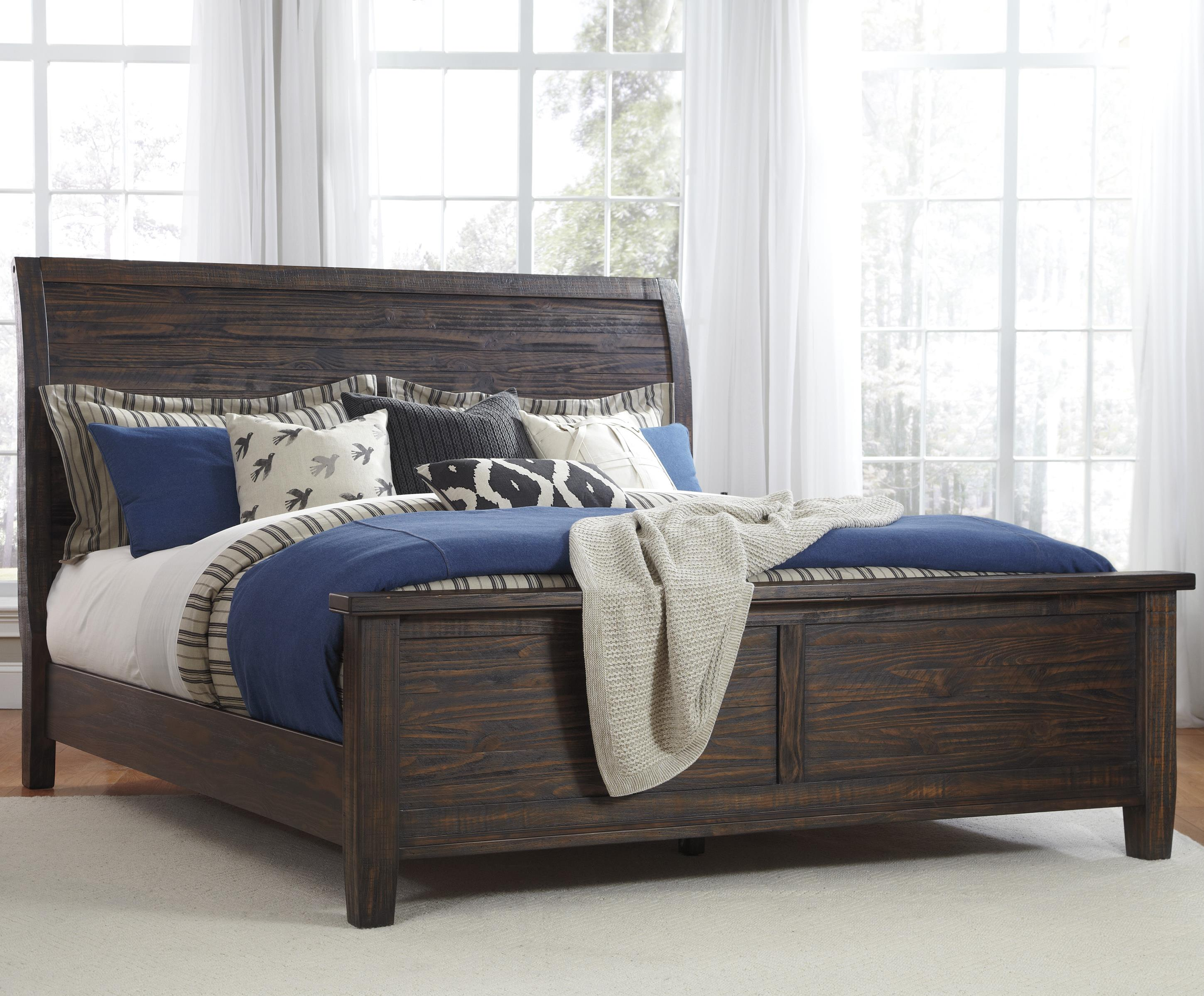 signature design by ashley trudell king soild pinewood bed