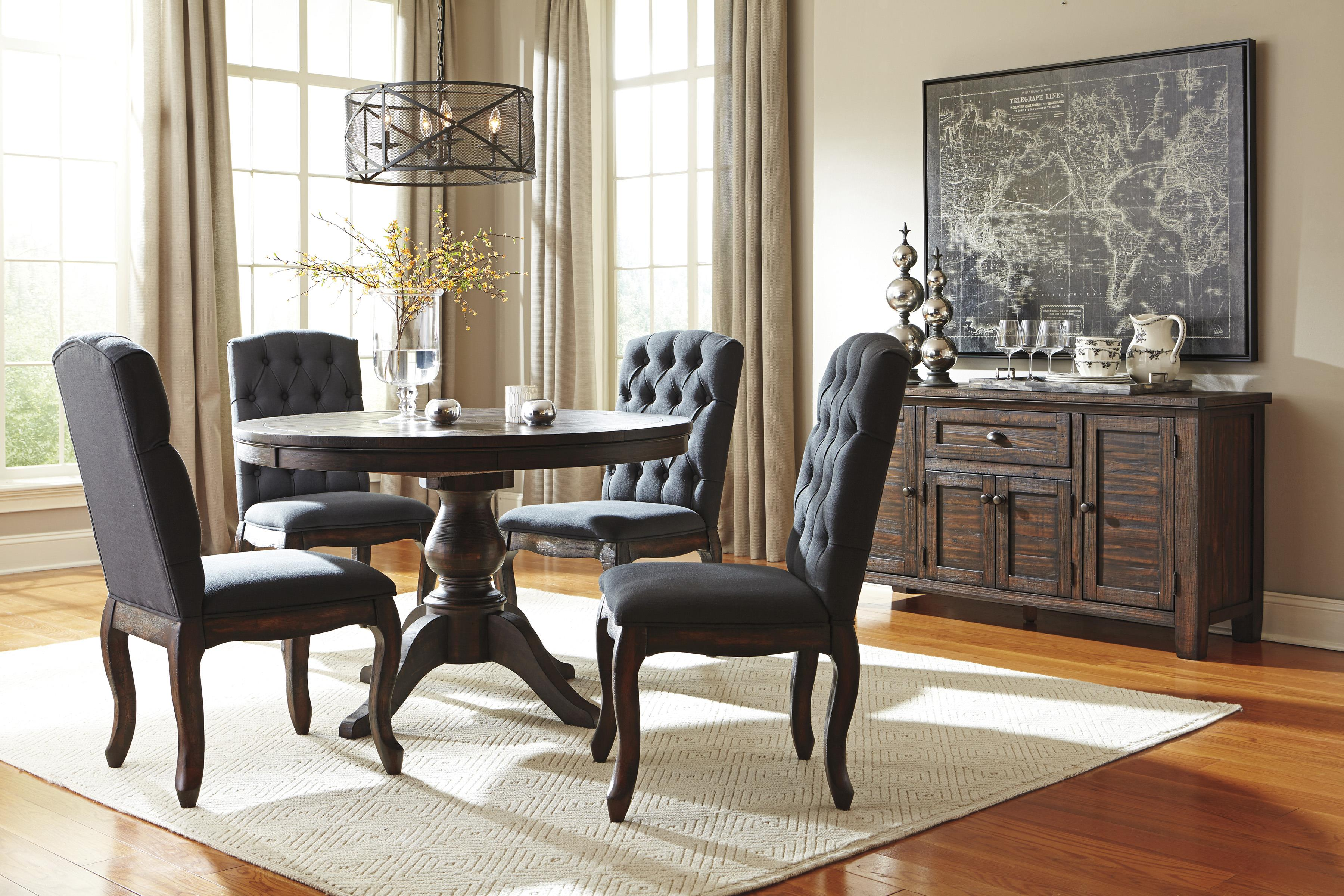 Signature design by ashley trudell casual dining room for Casual dining room furniture