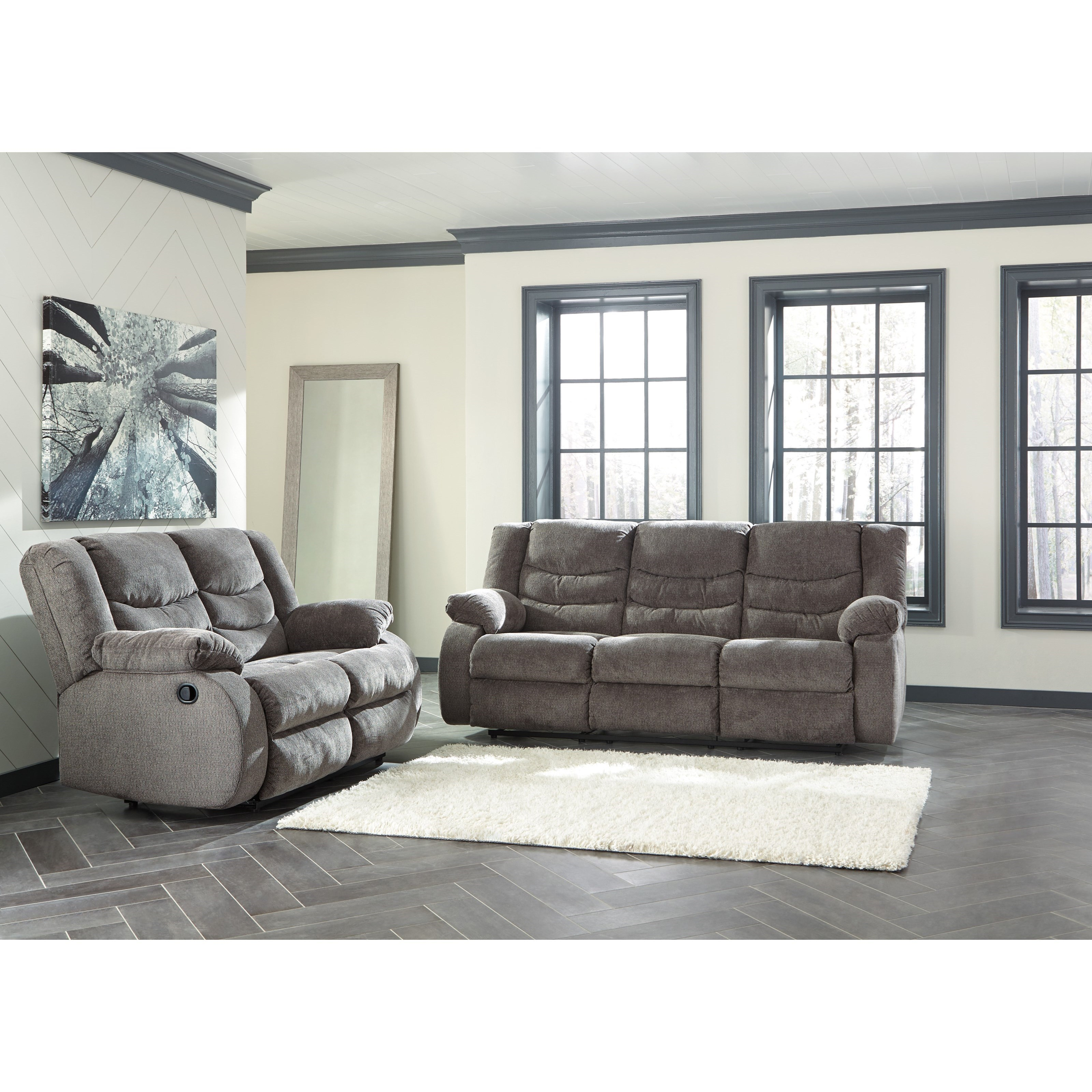 Signature design by ashley tulen reclining living room for Living room group sets