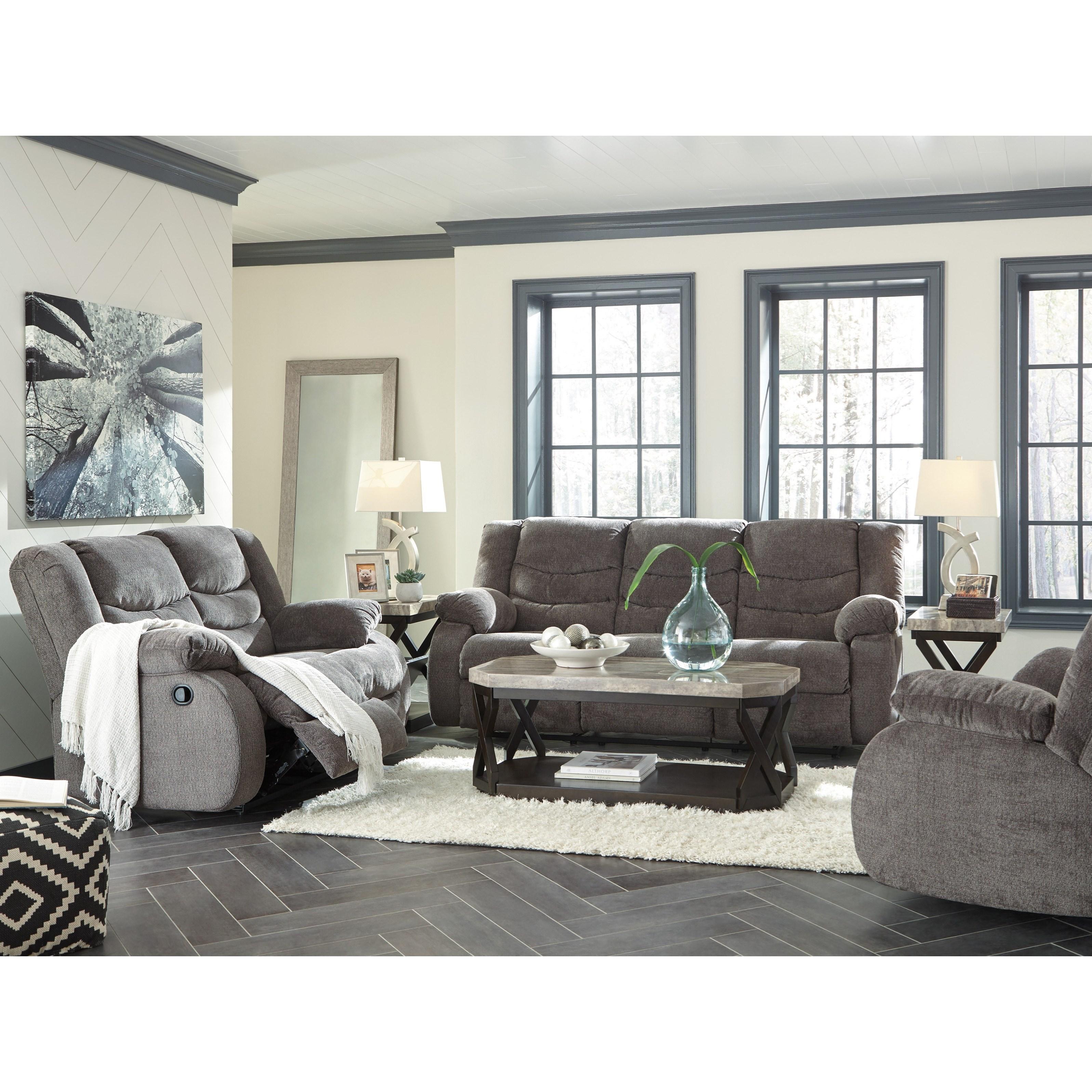 Ashley Signature Design Tulen Reclining Living Room Group Dunk Bright