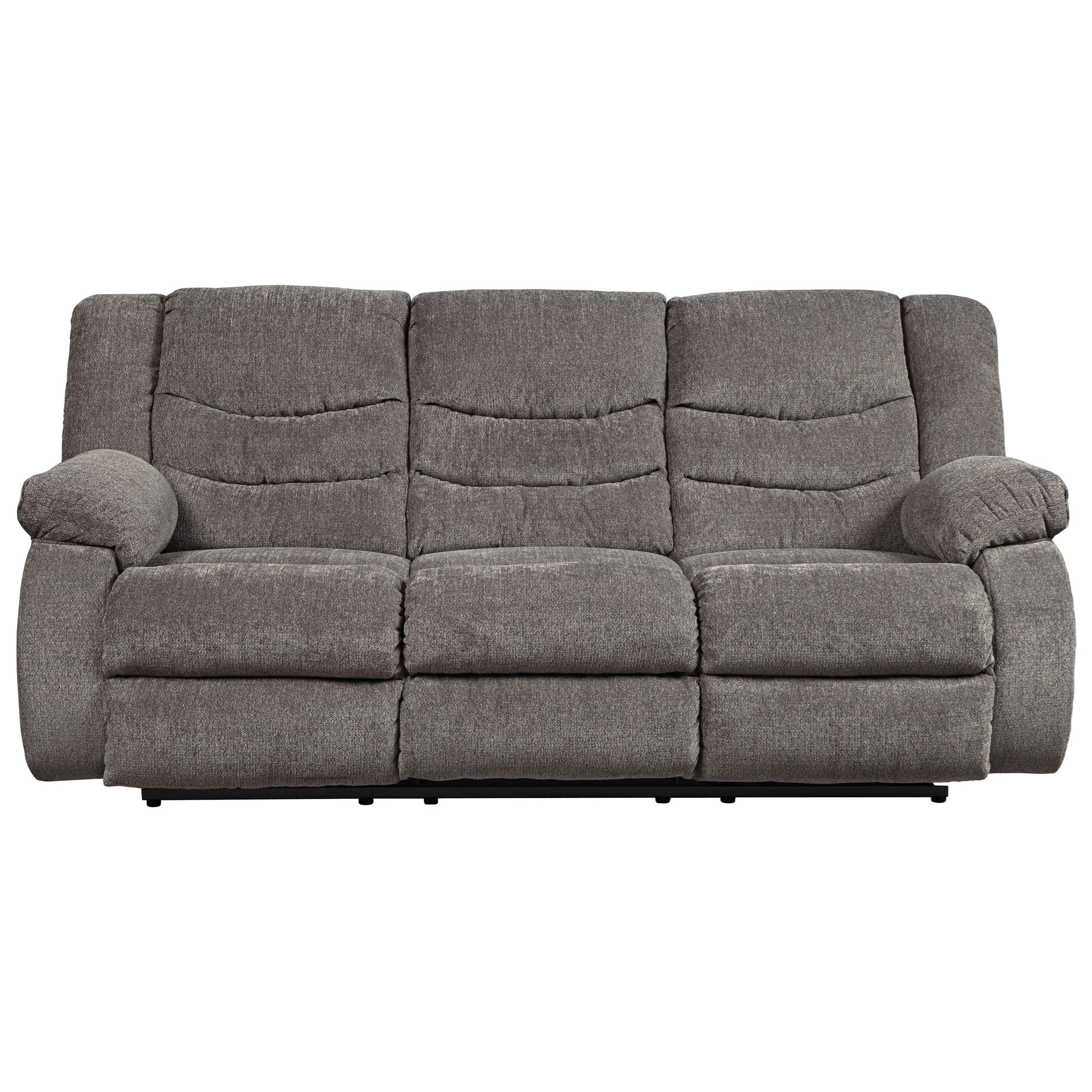 Signature design by ashley tulen contemporary reclining sofa boulevard home furnishings - Sofa reclinable ...