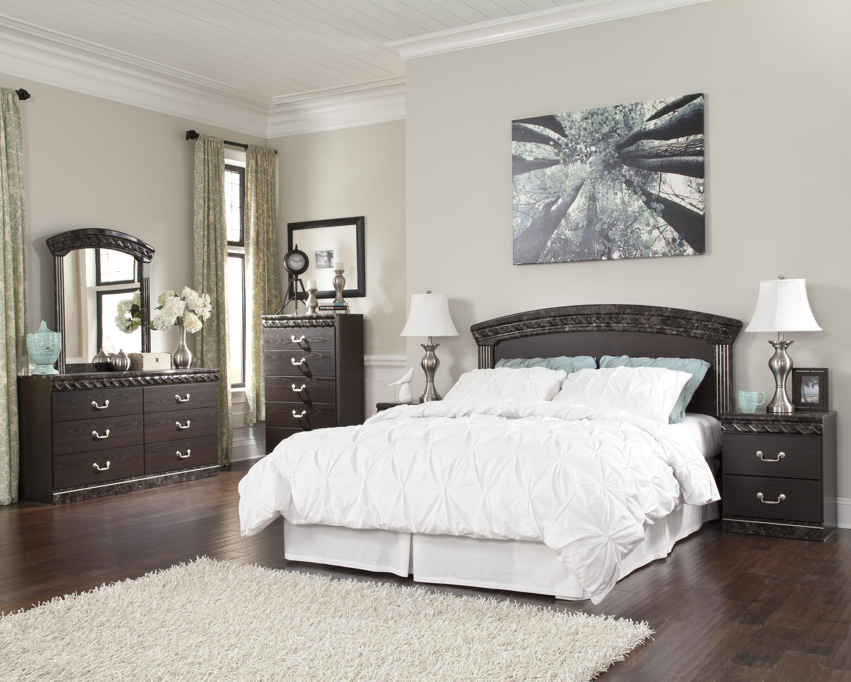 Ashley signature design vachel traditional dresser Ashley furniture marble top bedroom set