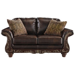 Signature Design by Ashley Vanceton Ottoman with Ornate