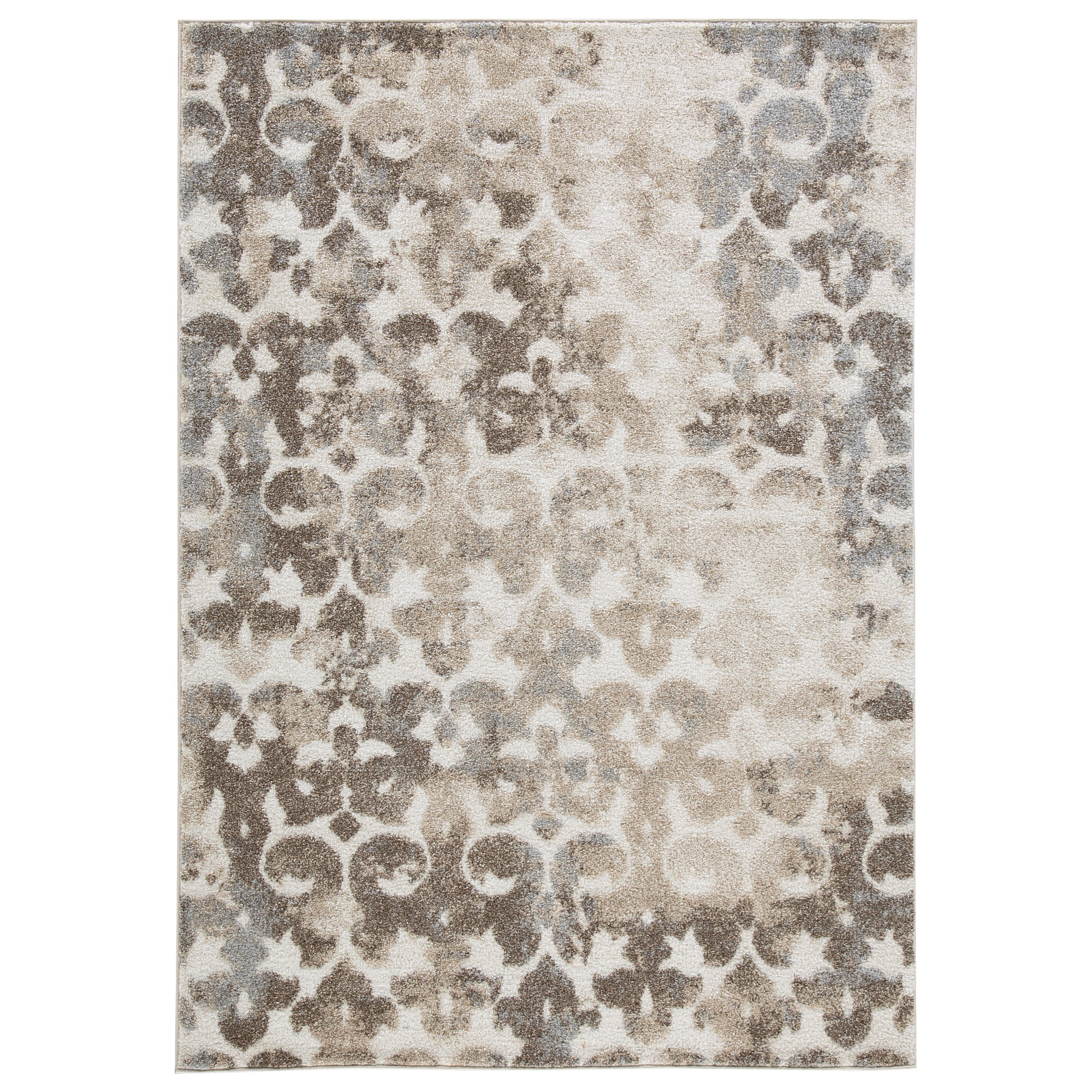 Casual Area Rugs Jiro Brown Cream Large Rug