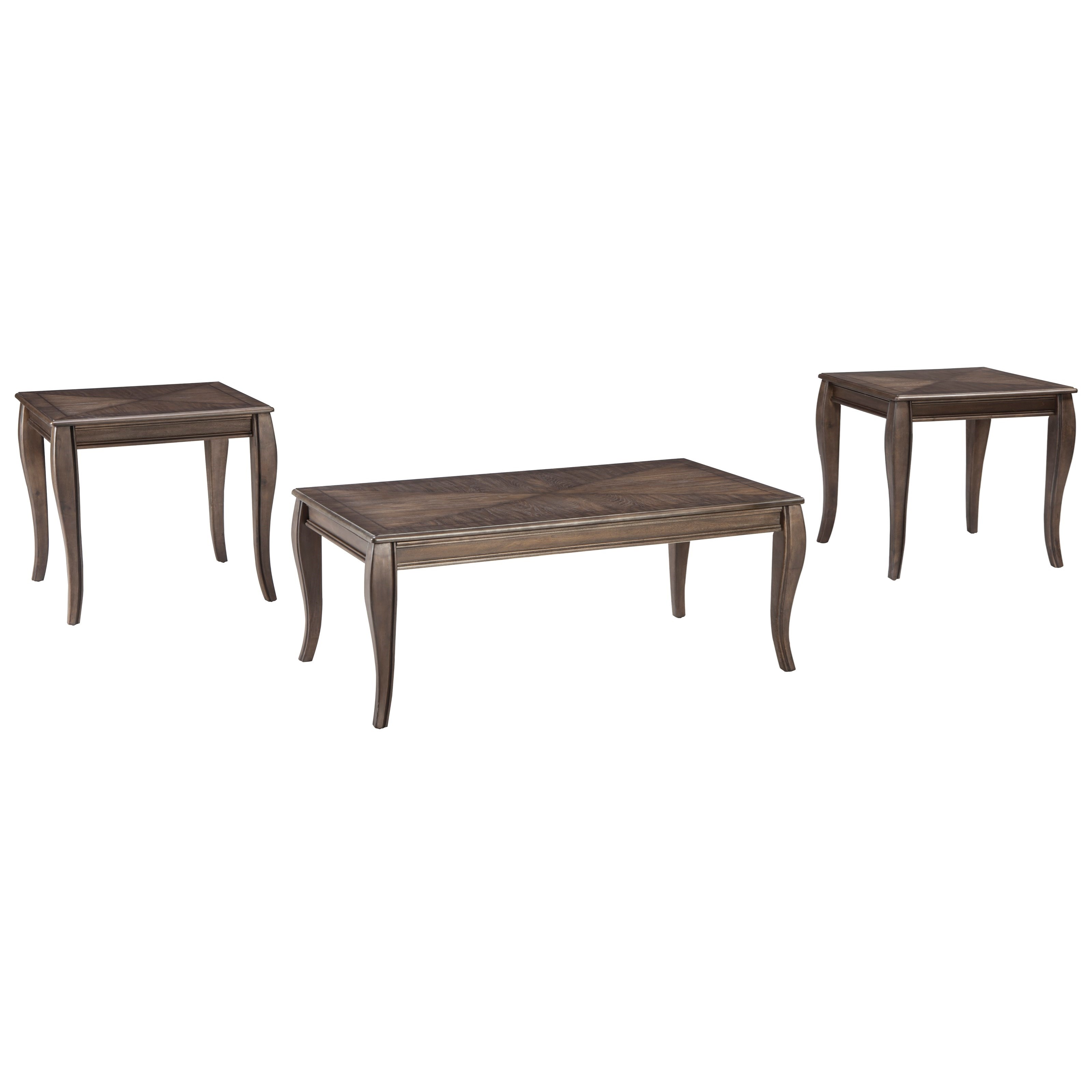 Styleline Vintelli T316 13 Occasional Table Set With Inlay Tabletop Design Efo Furniture