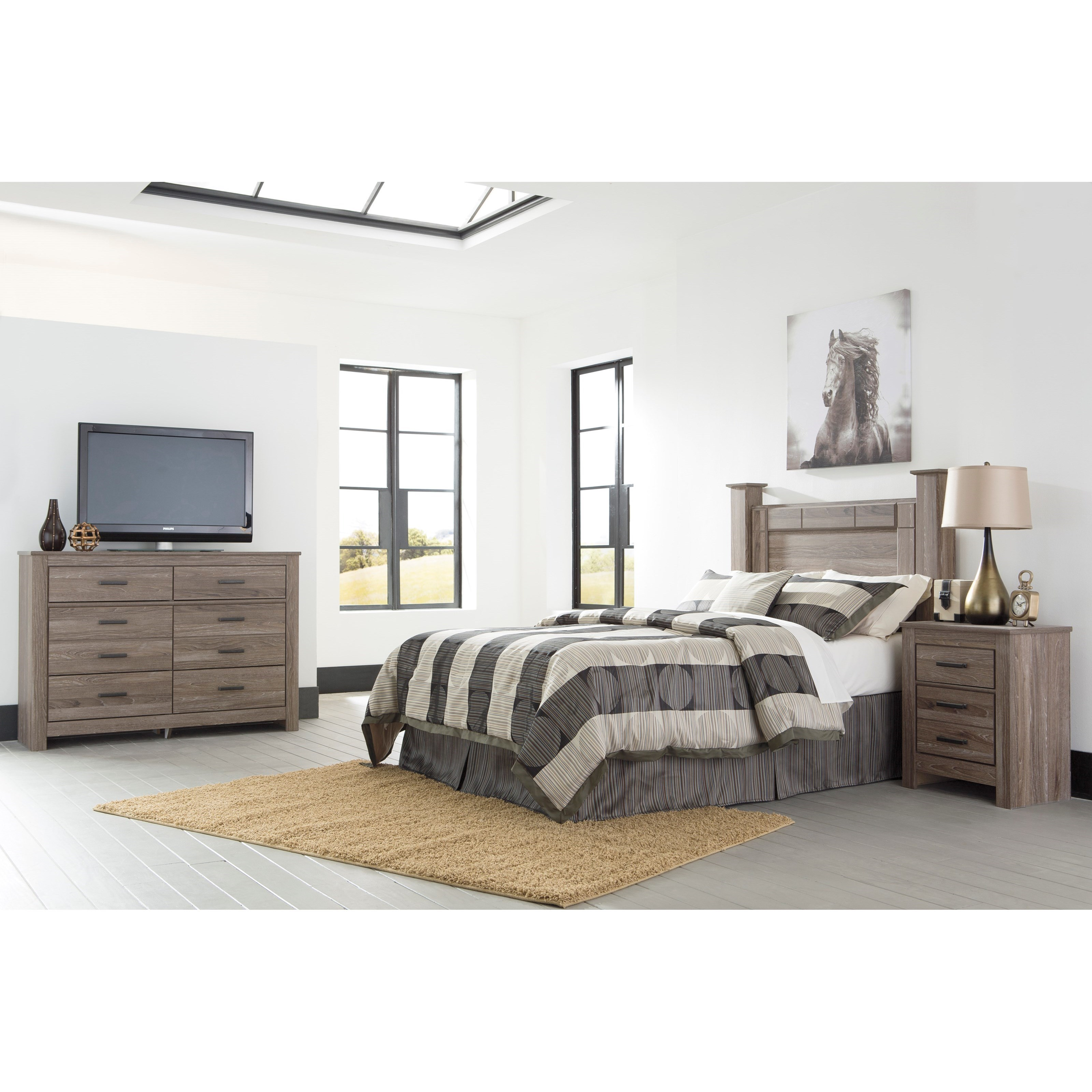 Signature design by ashley waldrew queen bedroom group for Bedroom furniture groups