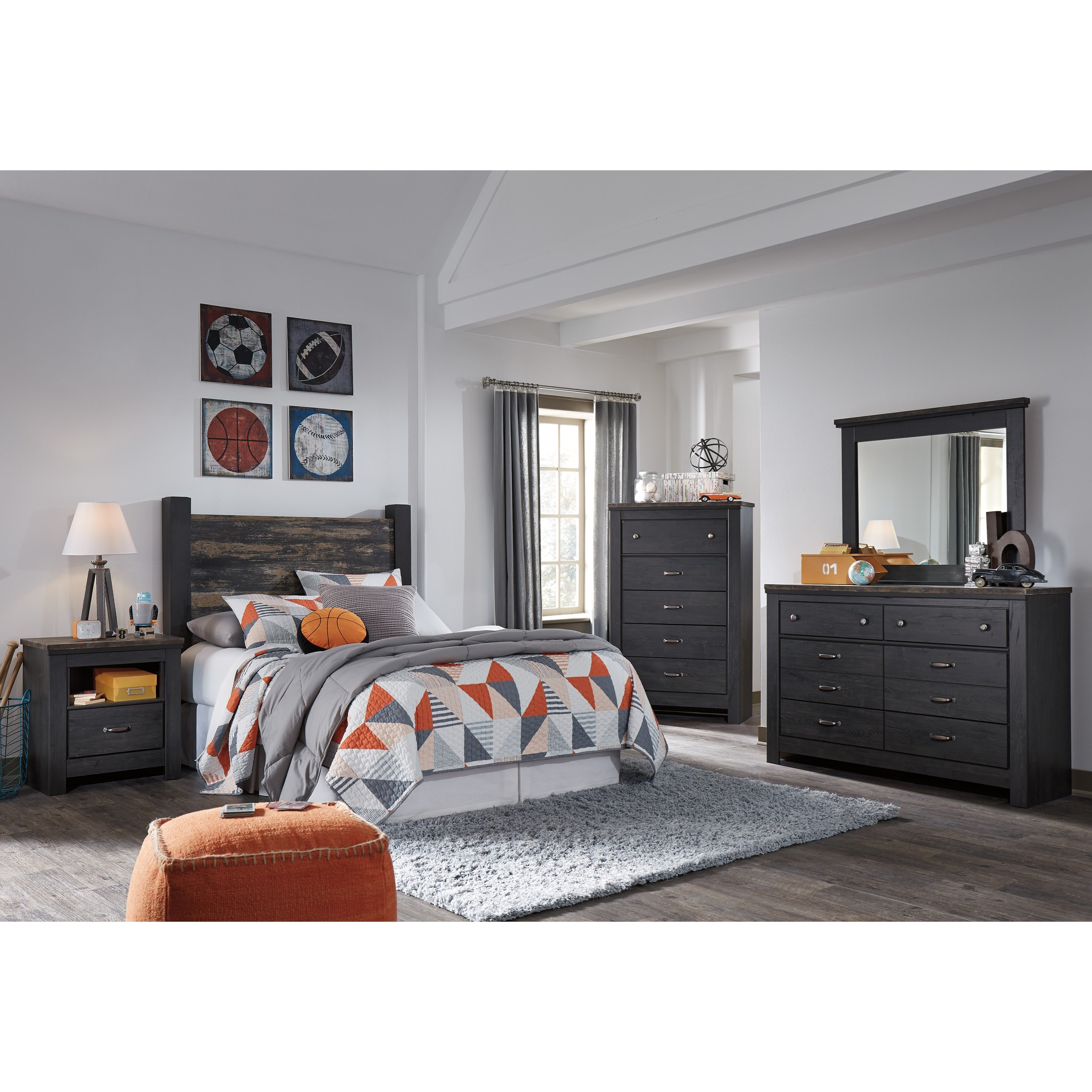 Ashley signature design westinton full bedroom group for Bedroom furniture groups