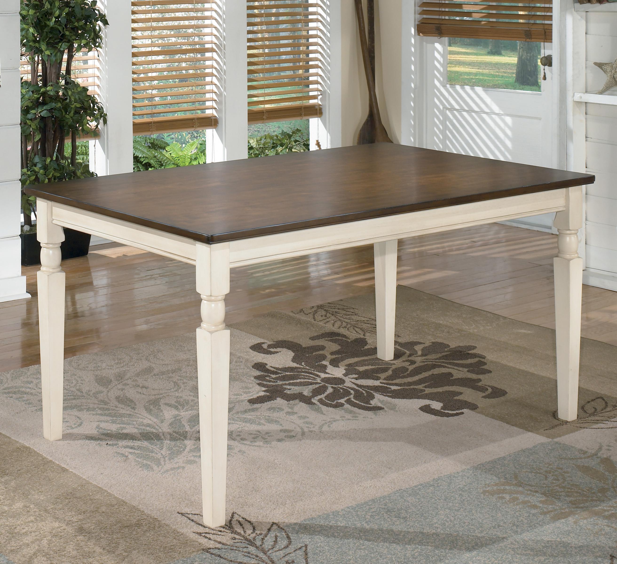 Ashley signature design whitesburg d583 25 rectangular for Whitesburg dining room table