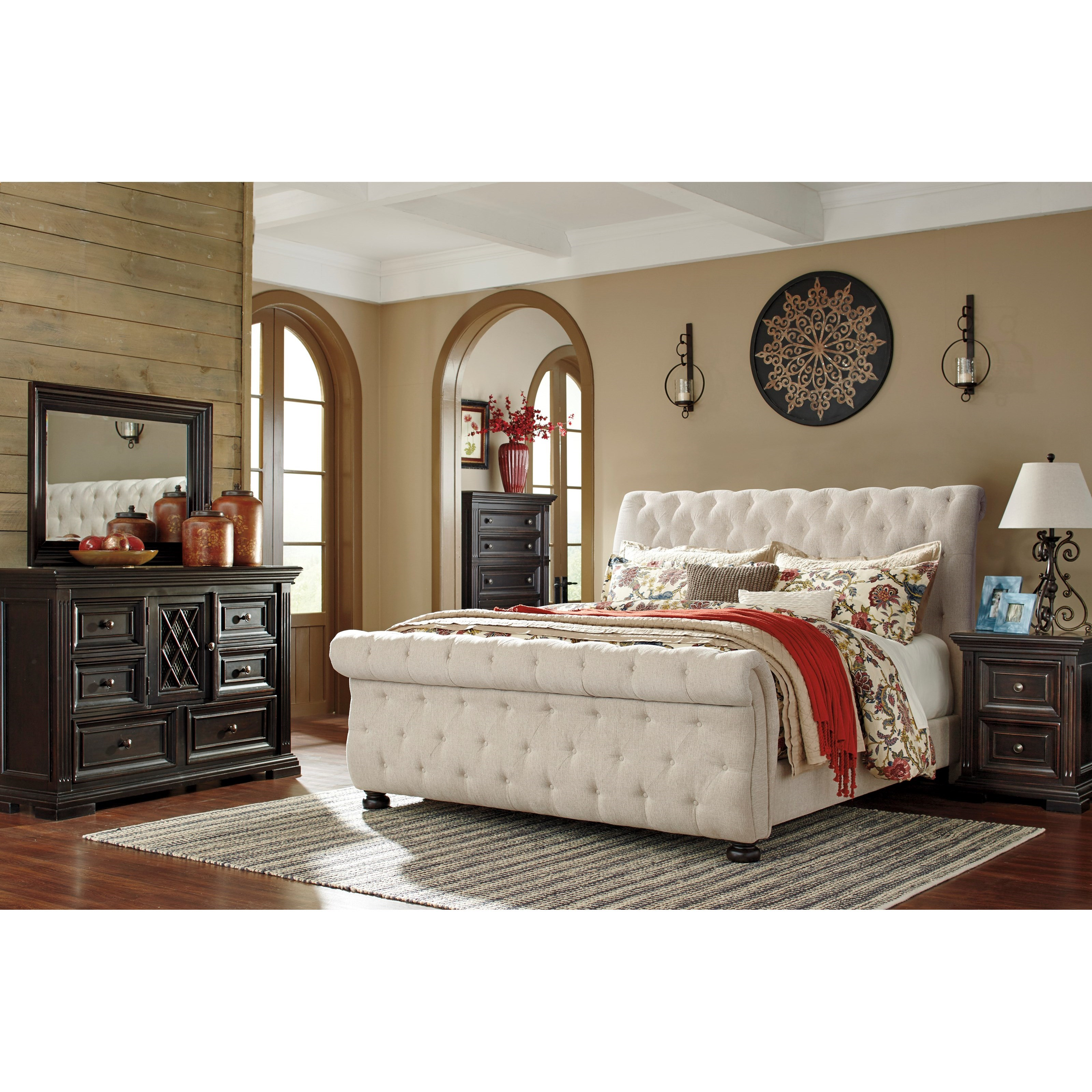 Ashley Furniture Fayetteville: Signature Design By Ashley Willenburg Queen Upholstered