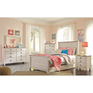 small scale 6 drawer dresser with rustic look top at wayside furniture