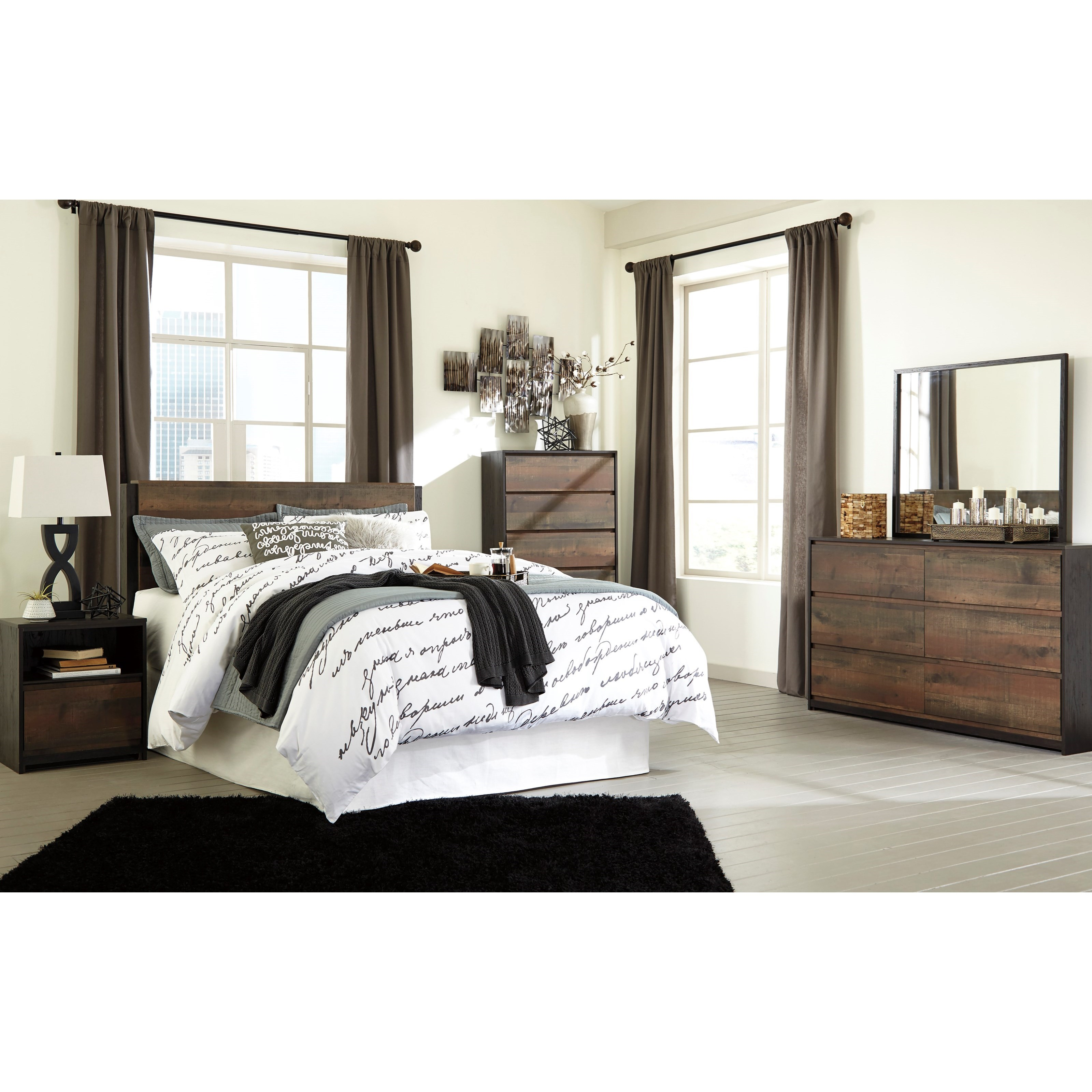 Signature design by ashley windlore queen bedroom group for Signature bedroom furniture