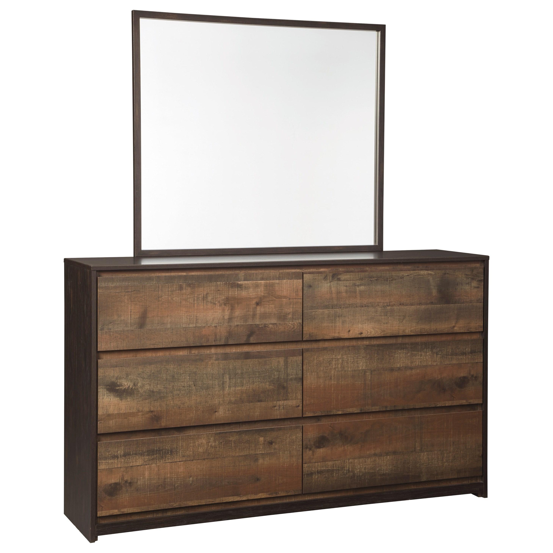 signature design by ashley windlore bedroom mirror
