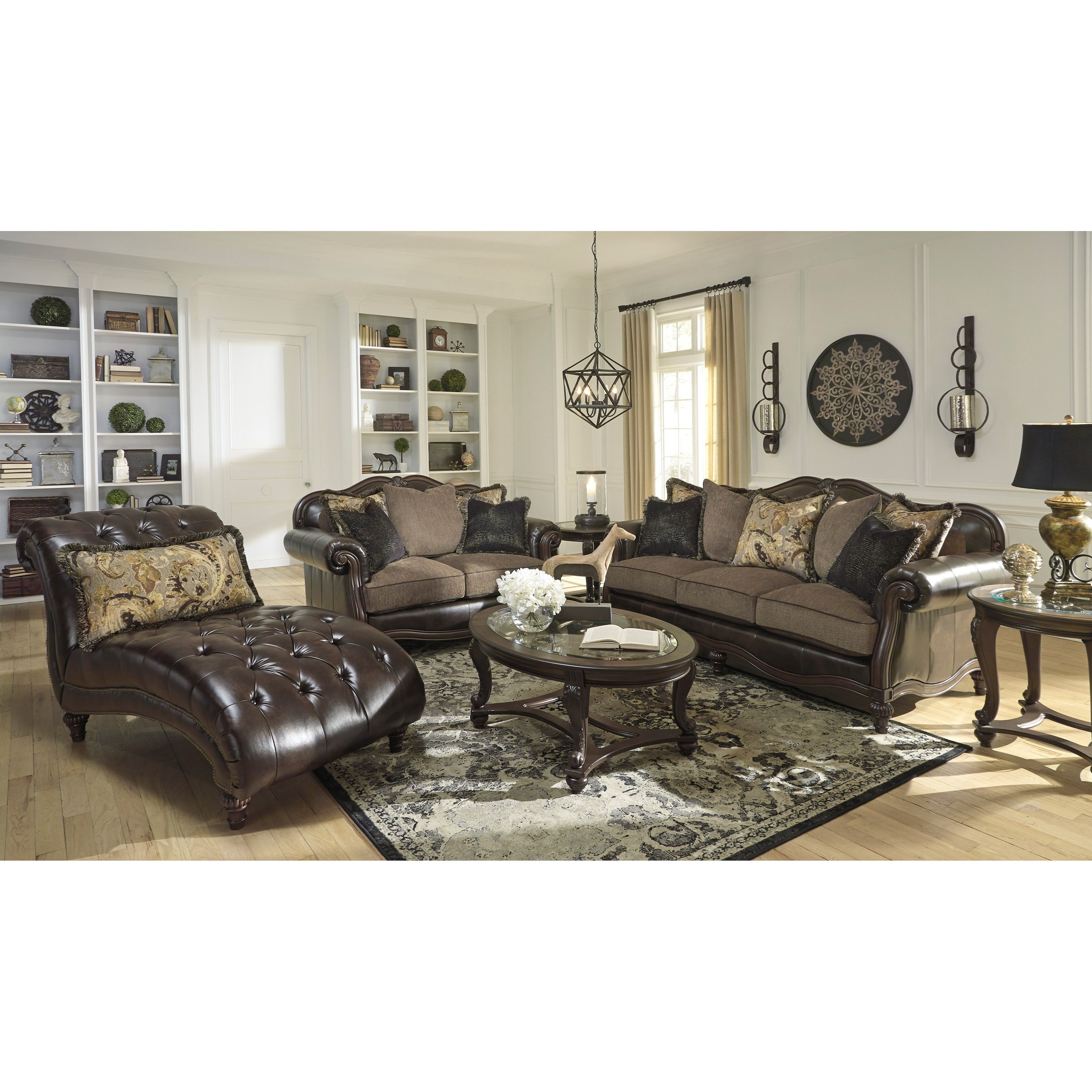 Signature Design By Ashley Winnsboro Durablend Stationary Living Room Group Del Sol Furniture