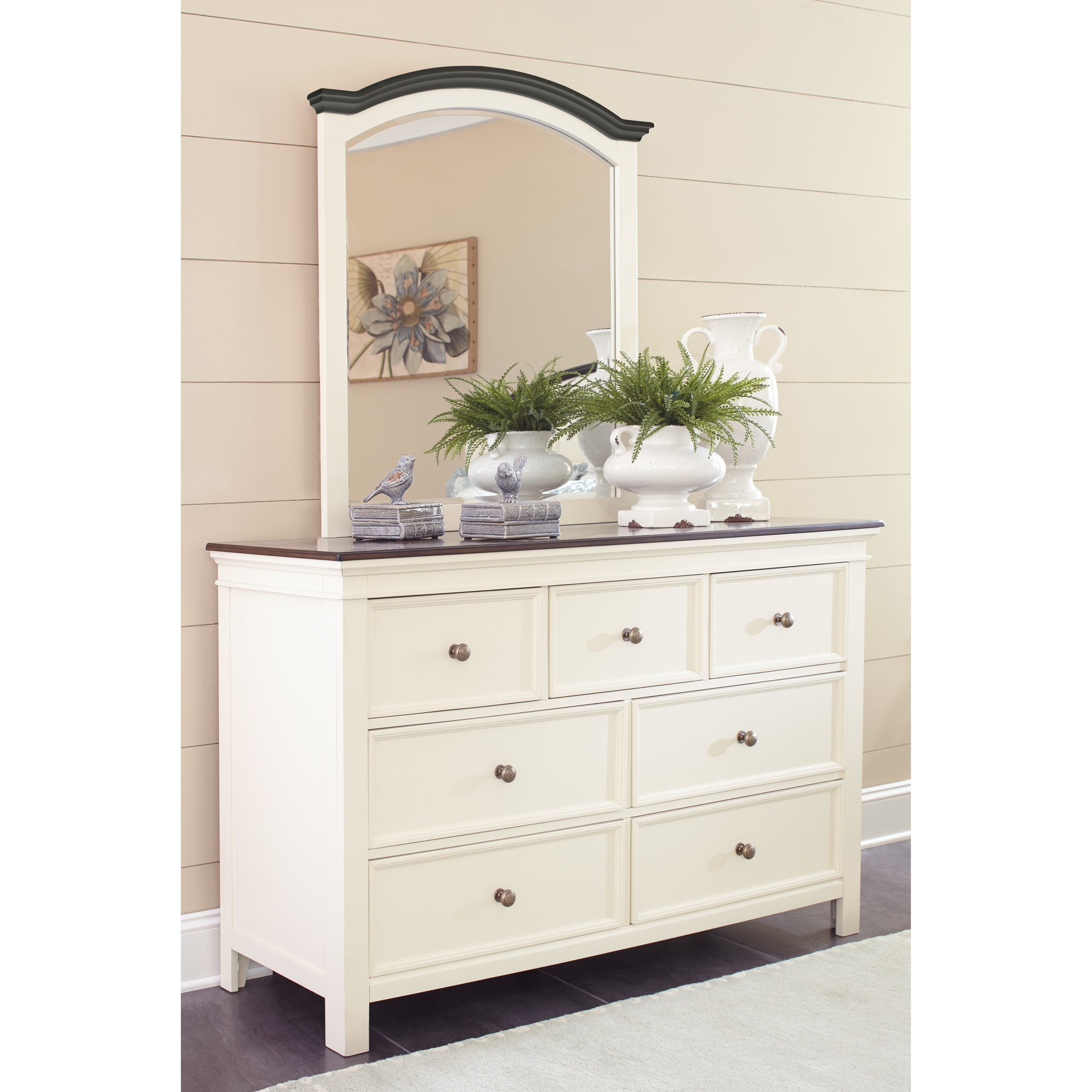 Bedroom Dressers With Mirrors: Signature Design By Ashley Woodanville Cottage Style