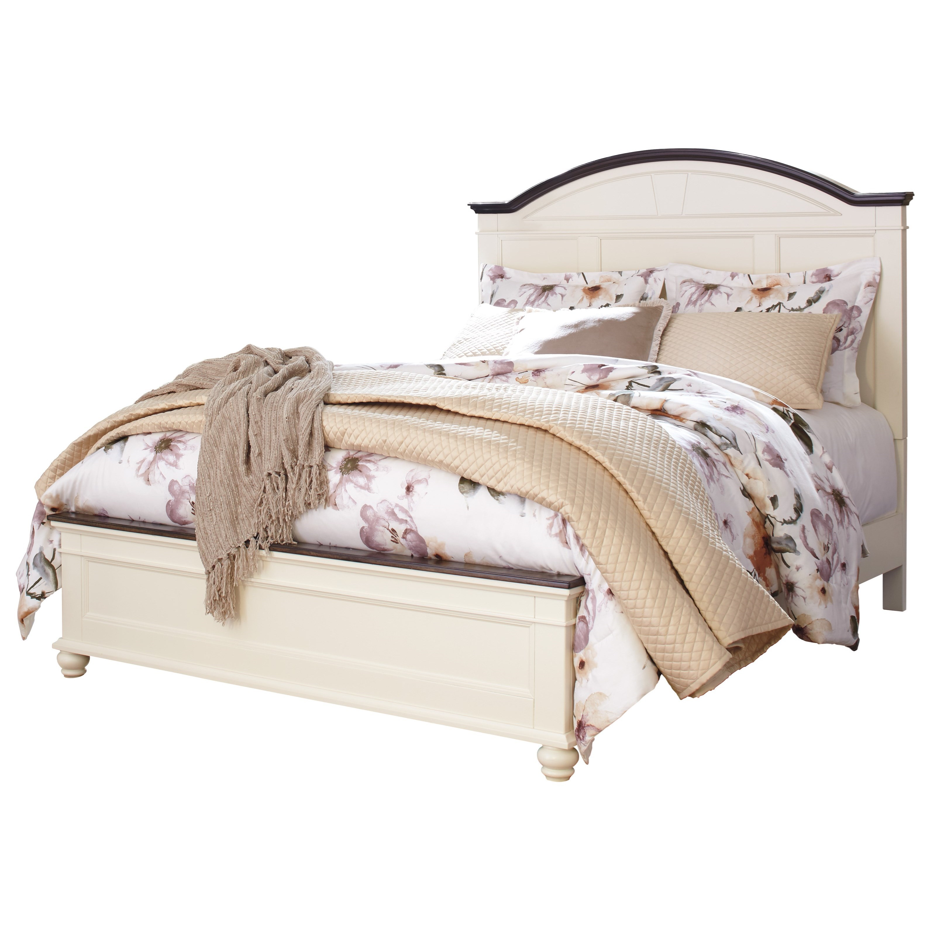 Signature design by ashley woodanville queen panel bed for Royal headboard