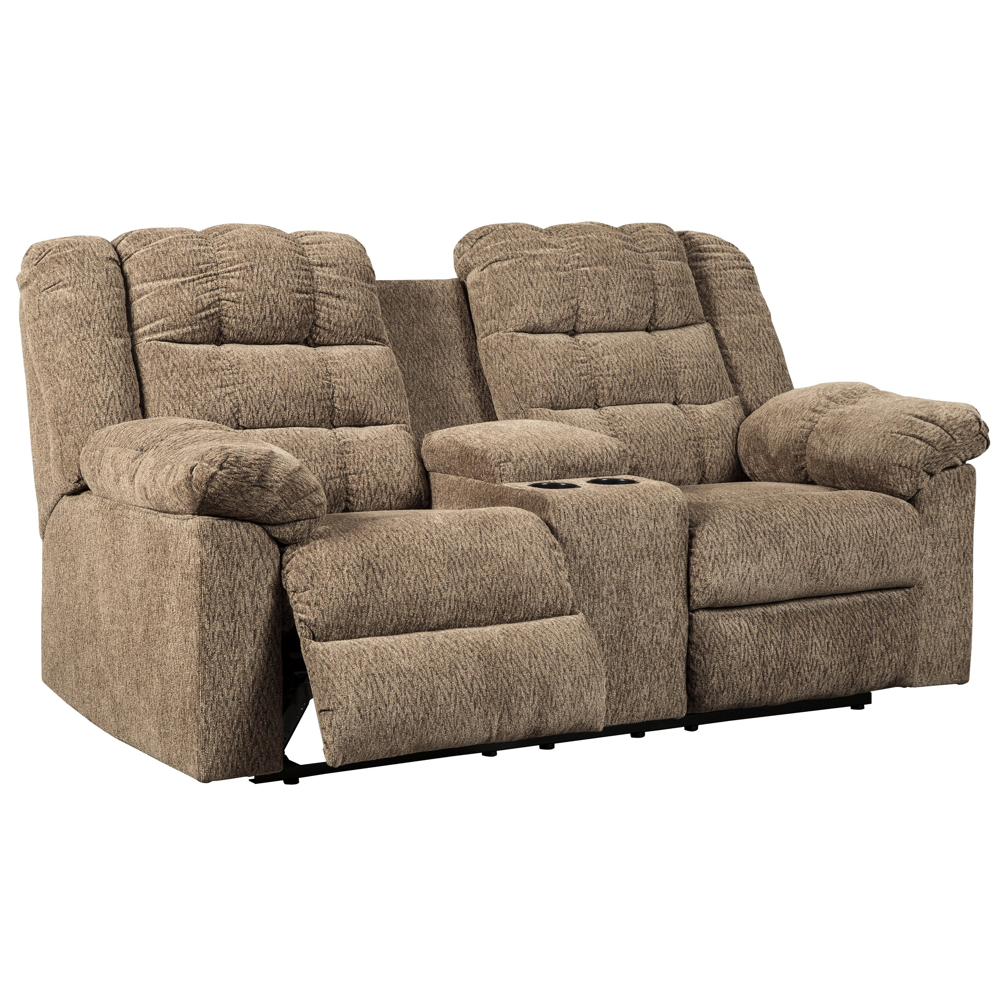 Winfred Casual Double Reclining Loveseat W/ Console & 2