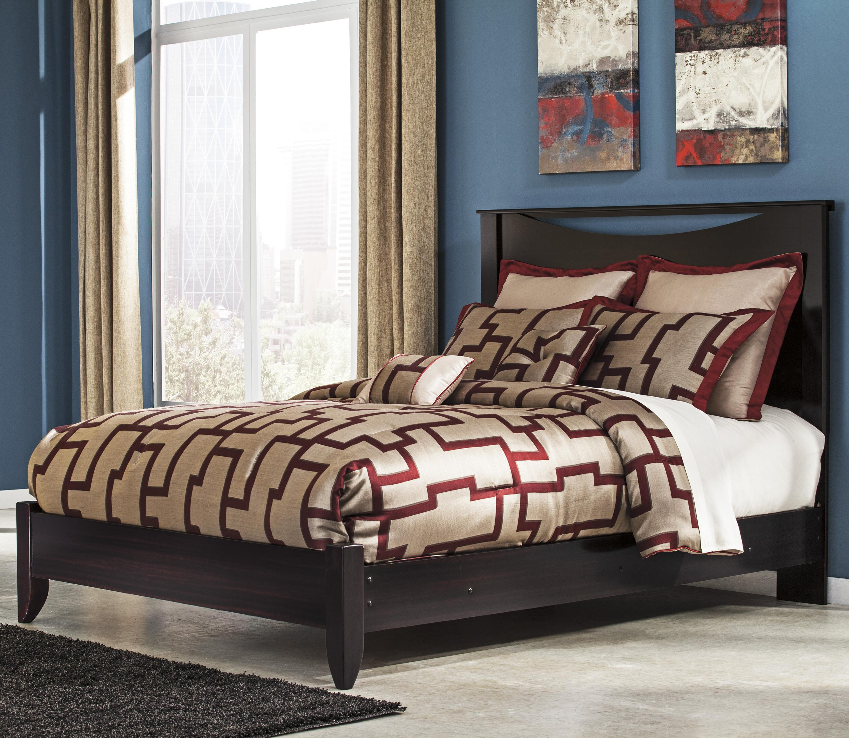 Signature Design By Ashley Zanbury Queen Bed With Low Profile Footboard Furniture And