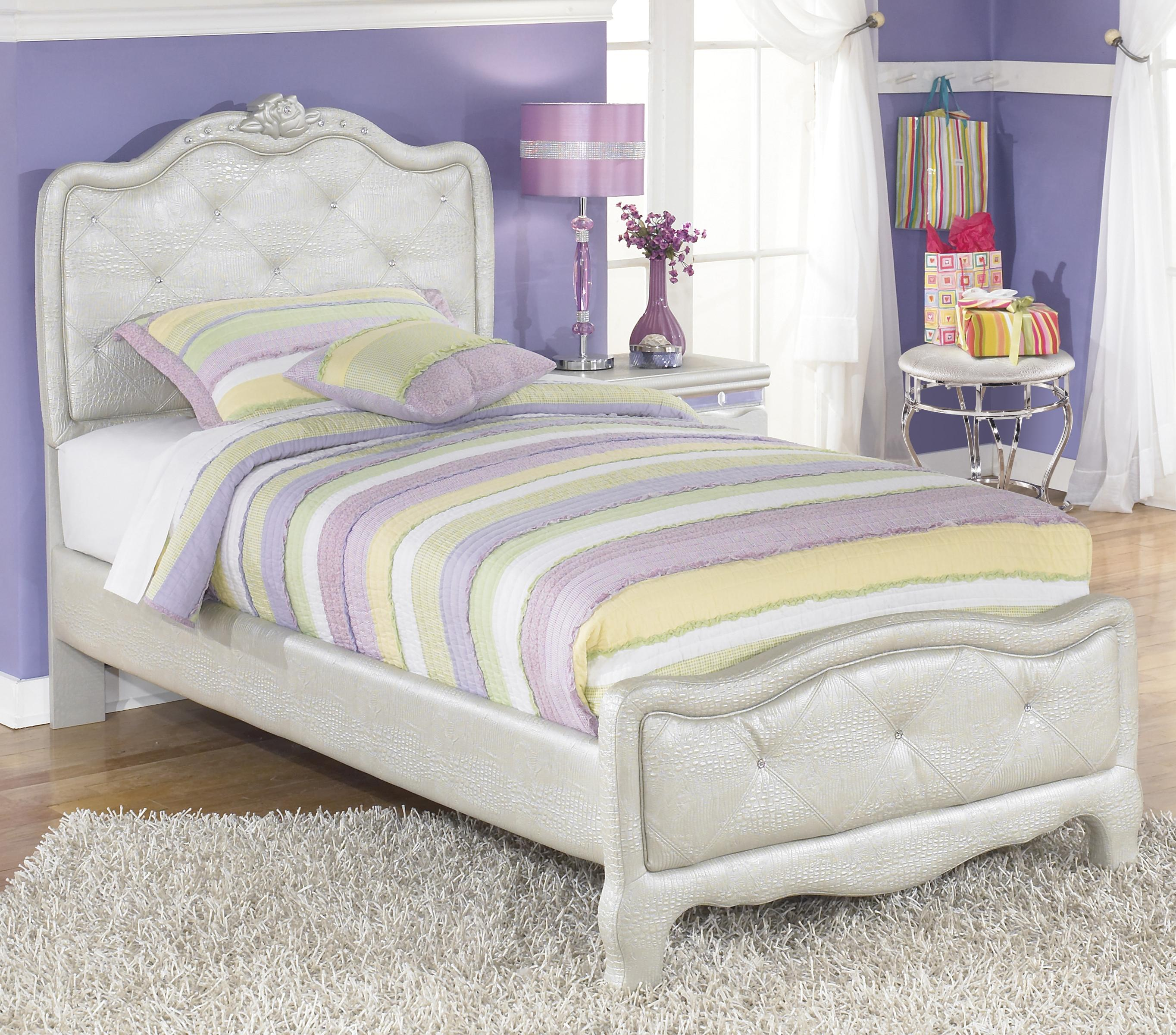 Ashley signature design zarollina twin upholstered bed in for Gator bedroom ideas