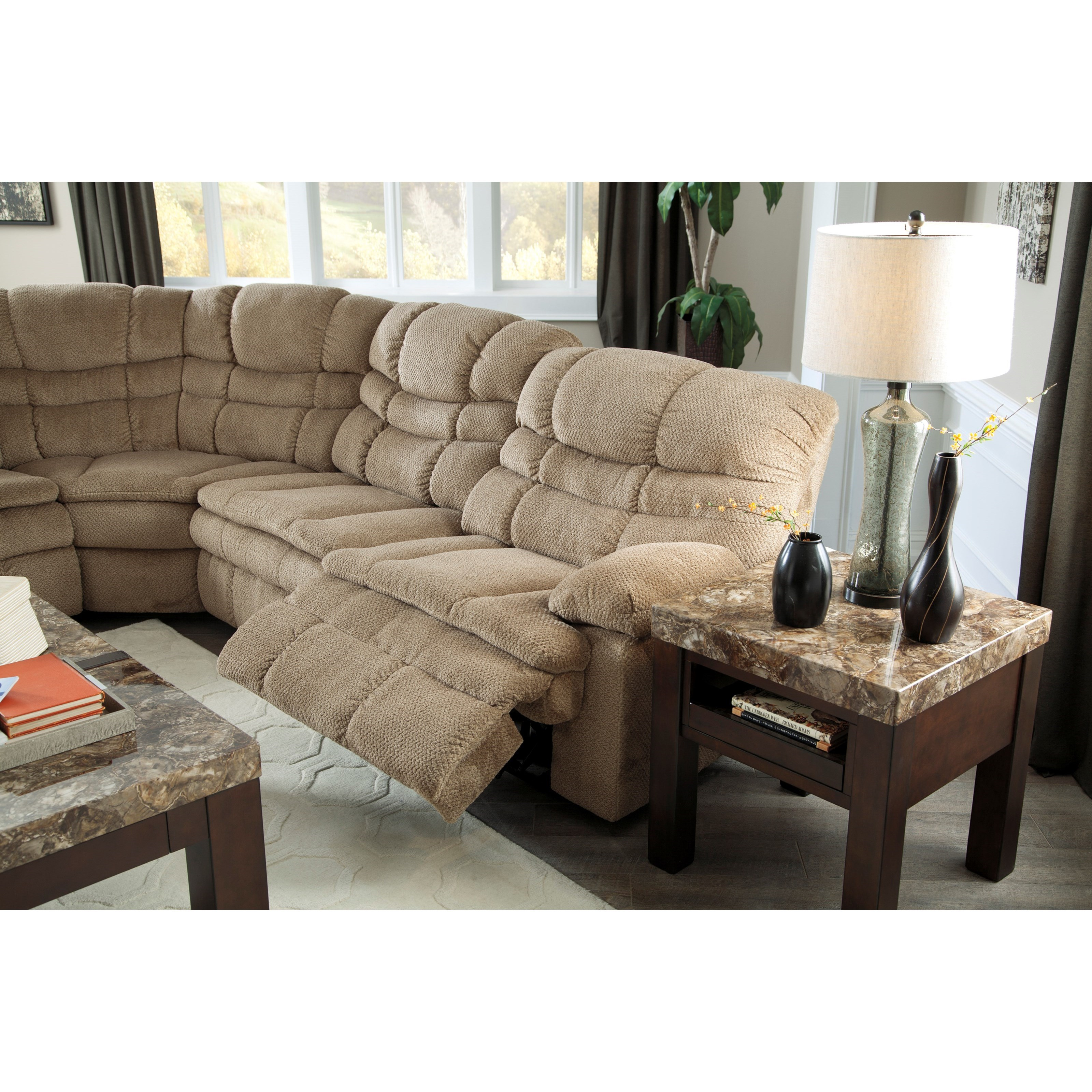 Signature Design by Ashley Zavion 6Pc Power Recl Sectional