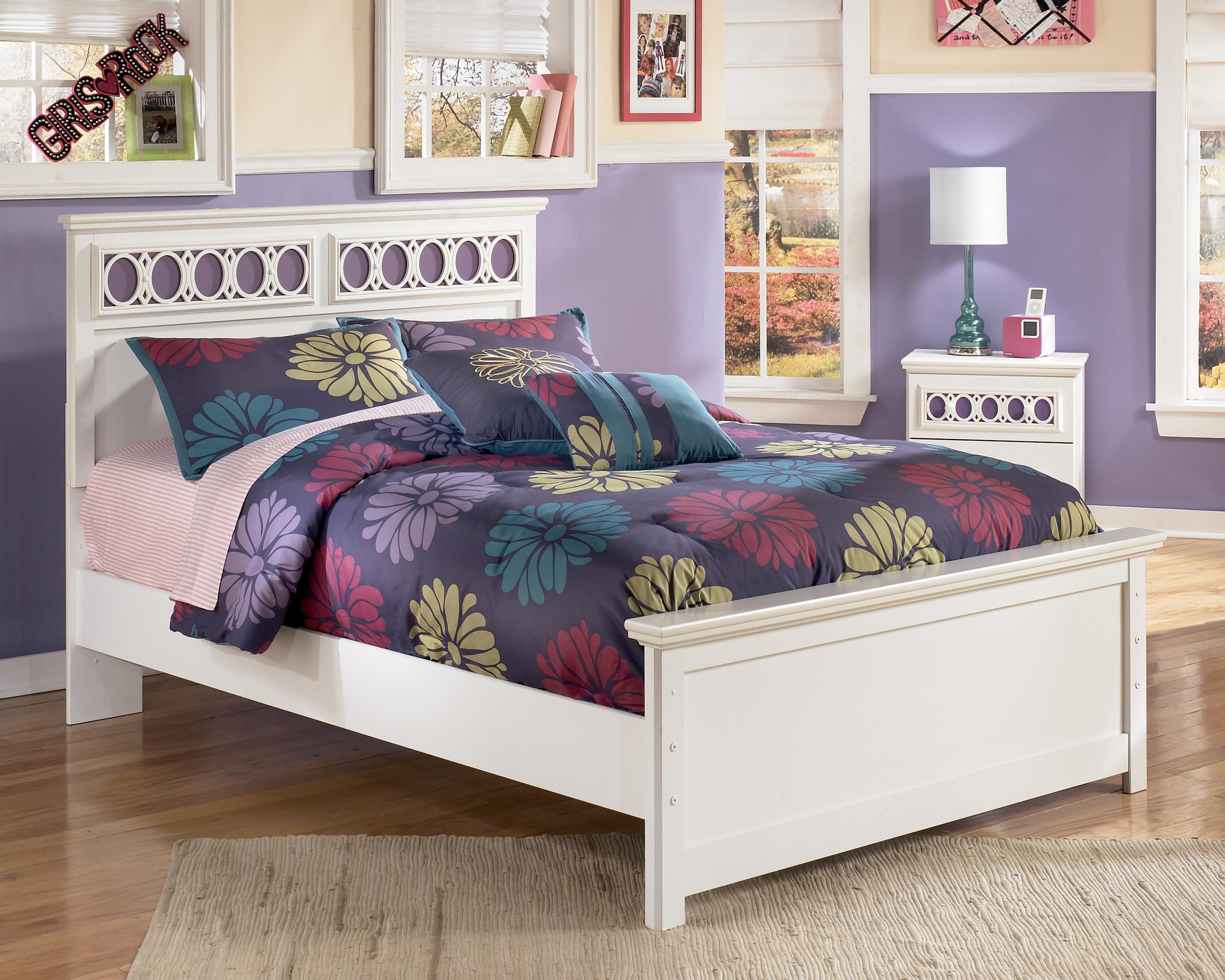 Ashley Signature Design Zayley Full Platform Bed With Customizable Color Panels Dunk Bright