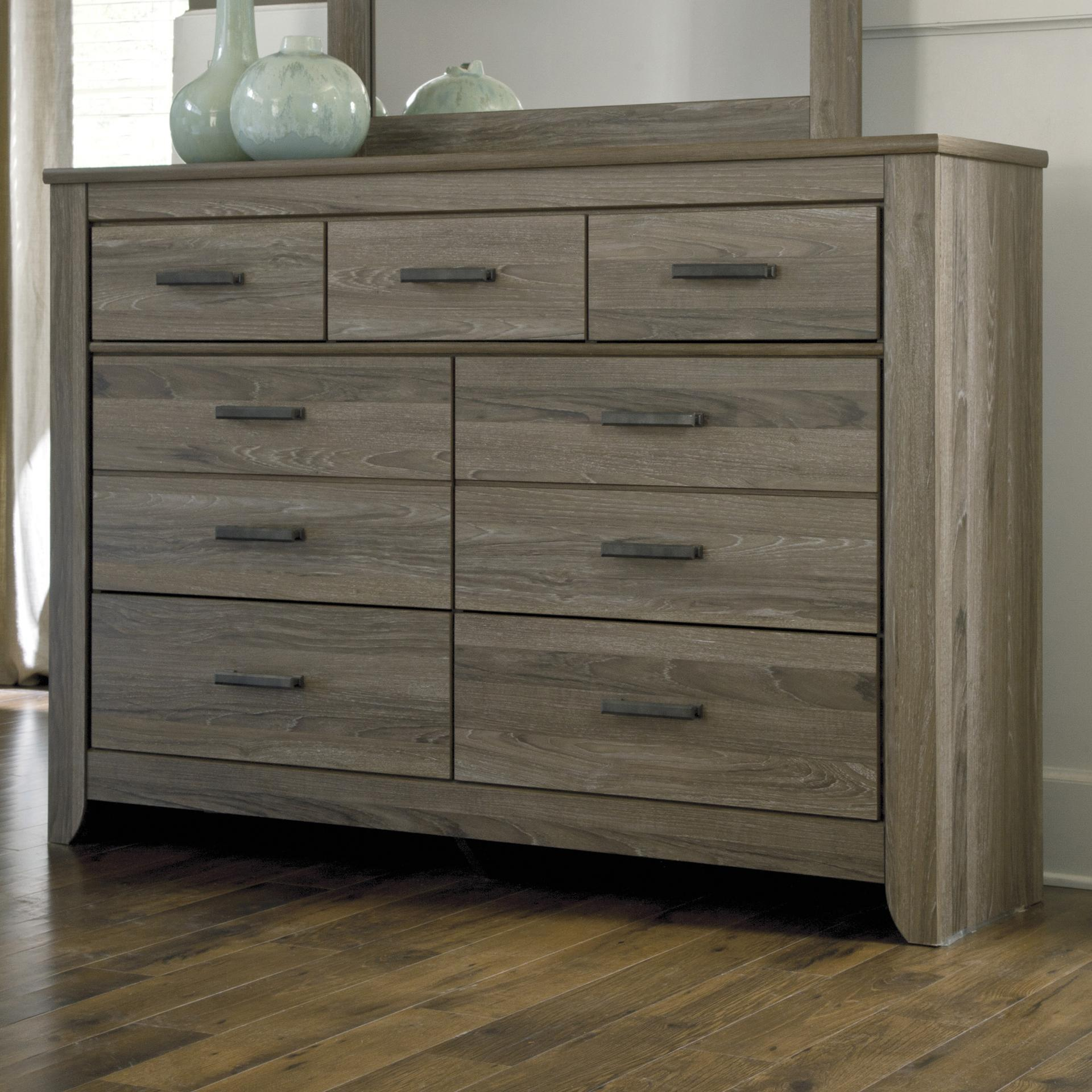 signature design by ashley zelen b248 31 rustic tall dresser with 7 drawers del sol furniture. Black Bedroom Furniture Sets. Home Design Ideas