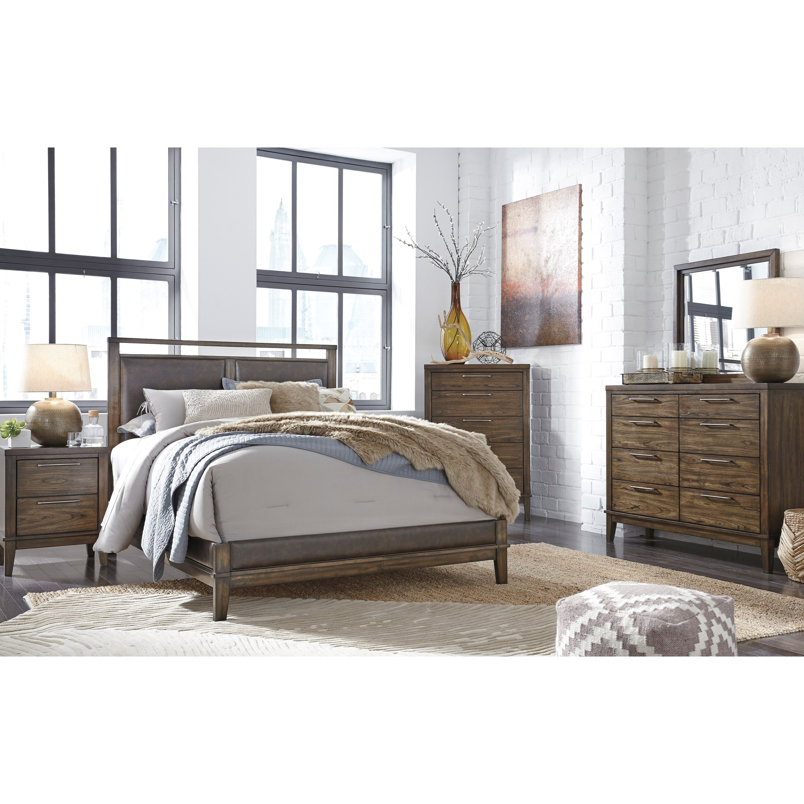 Signature design by ashley zilmar queen bedroom group for Bedroom furniture groups