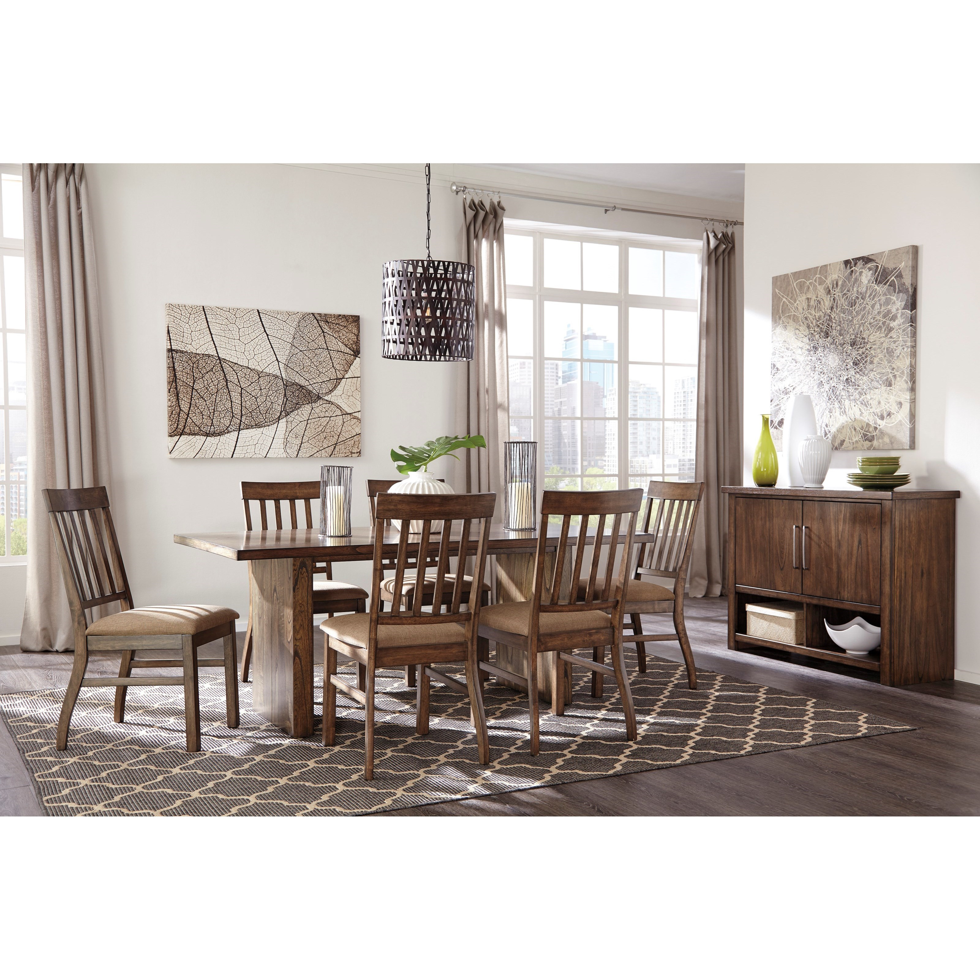 Styleline curry casual dining room group efo furniture outlet casual dining room groups for Ashley wilkes bedroom collection