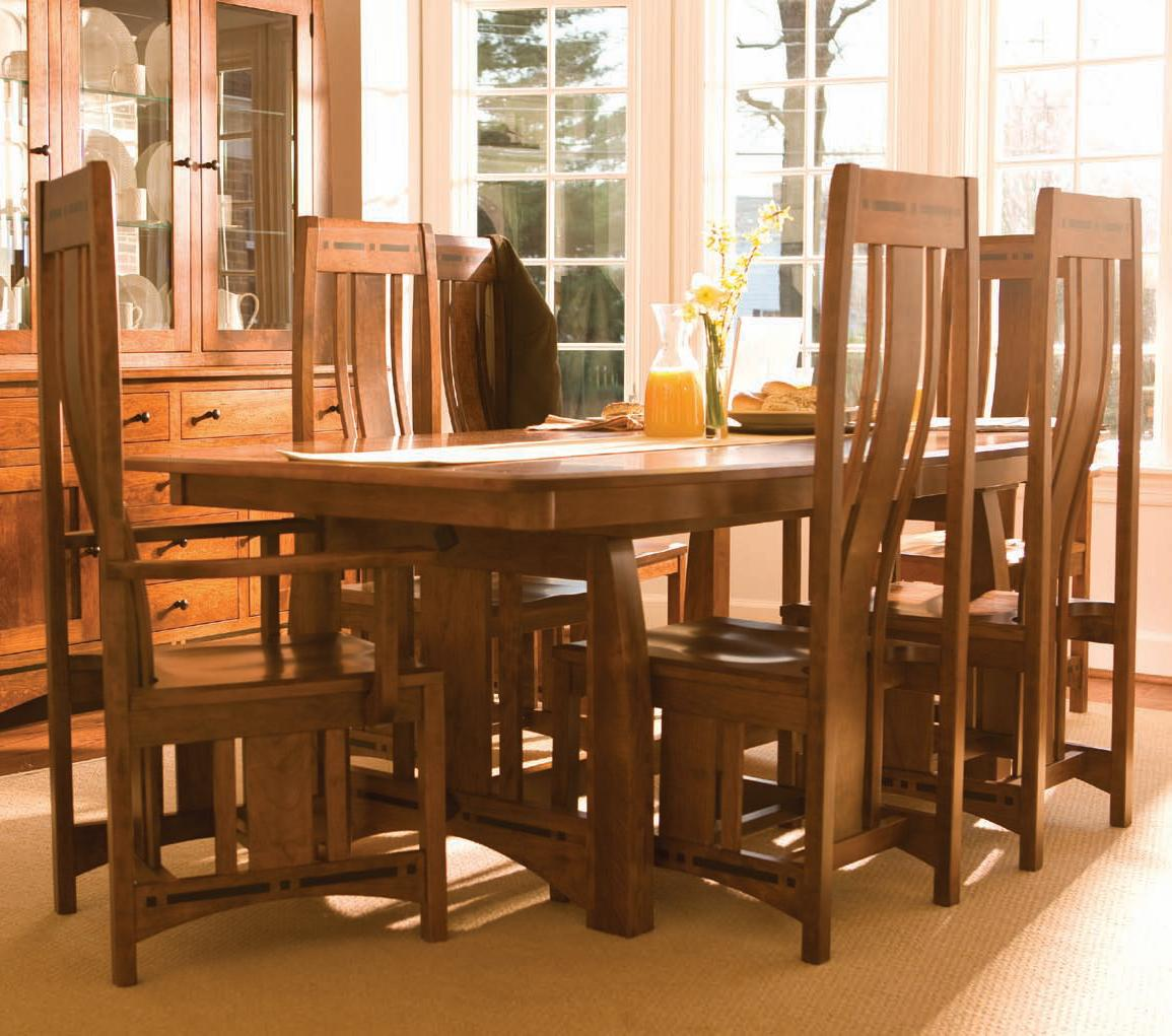 Simply amish aspen 7 piece aspen table chair set for Simply amish furniture