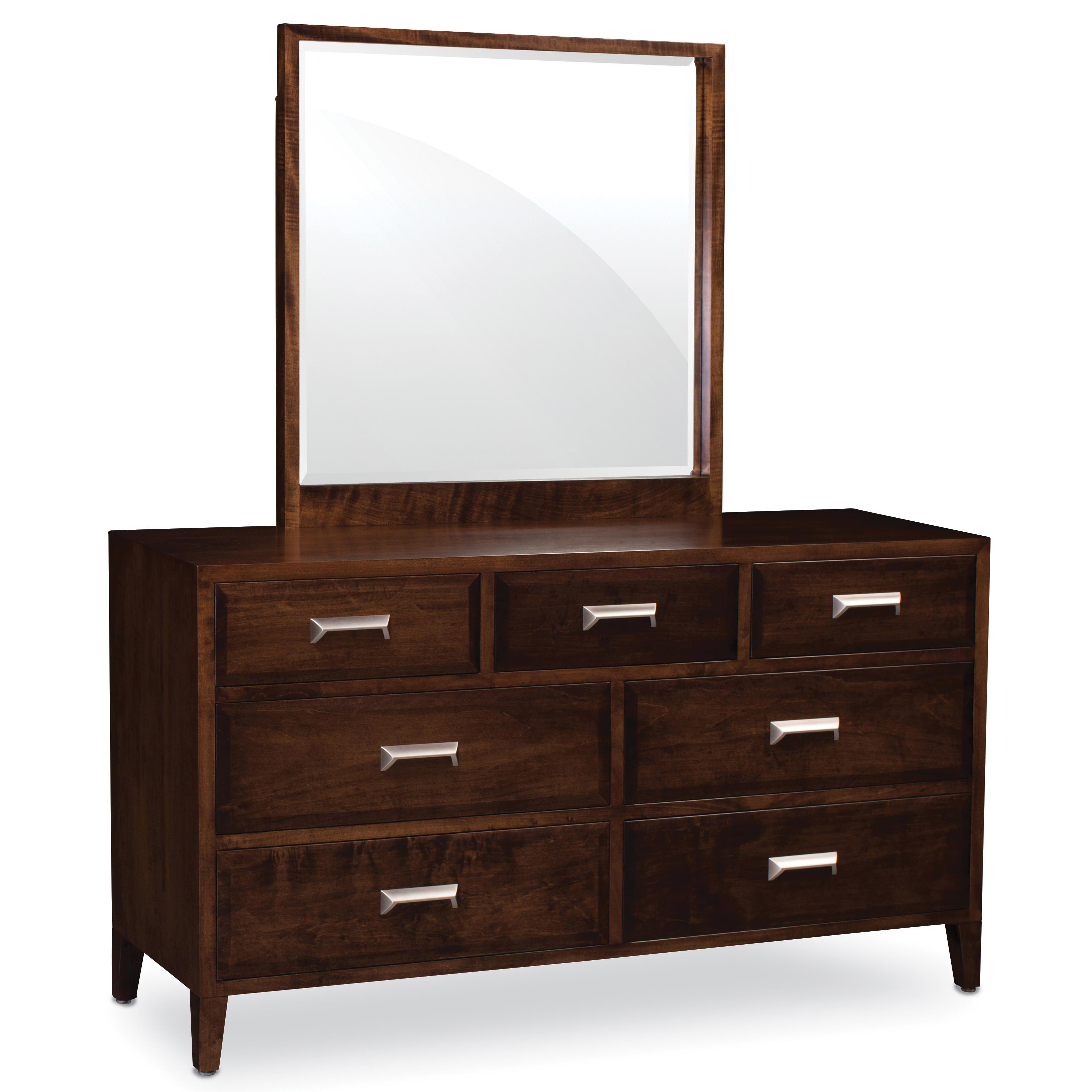 simply amish beaumont sa 7 drawer dresser and mirror set. Black Bedroom Furniture Sets. Home Design Ideas