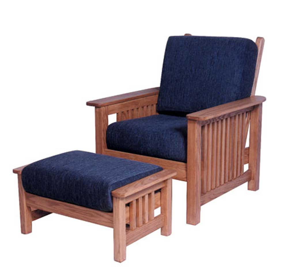 simply amish mission amish mission easy chair and ottoman