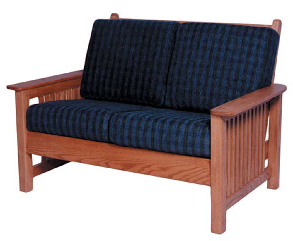 Simply amish mission amish lfmls101 mission loveseat for Simply amish furniture