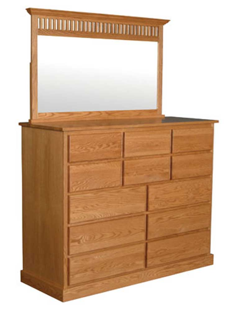 Simply amish mission amish mission 12 drawer bureau and for Bureau with mirror