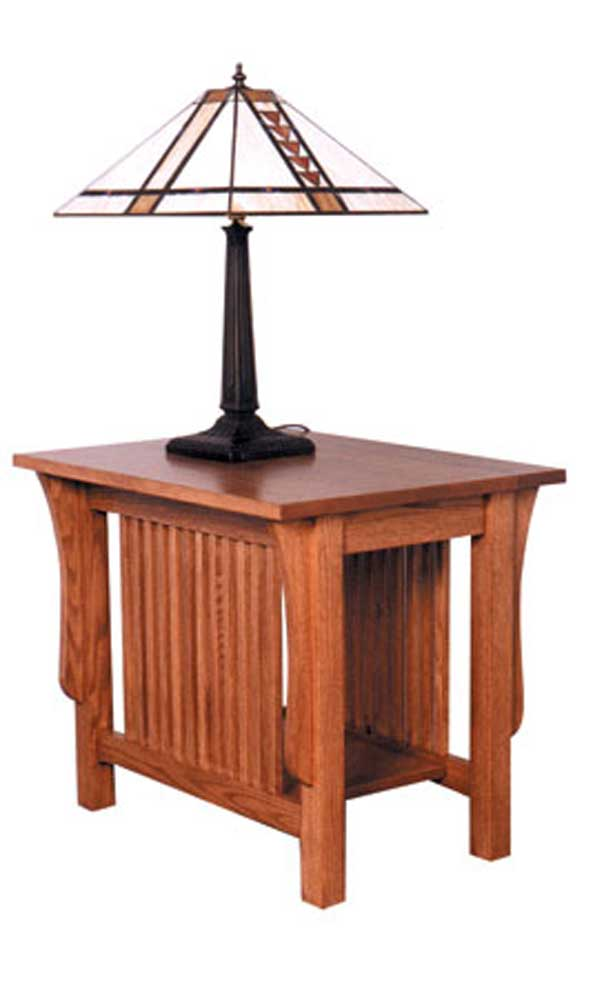 Simply amish prairie mission prairie mission end table for Simply amish furniture