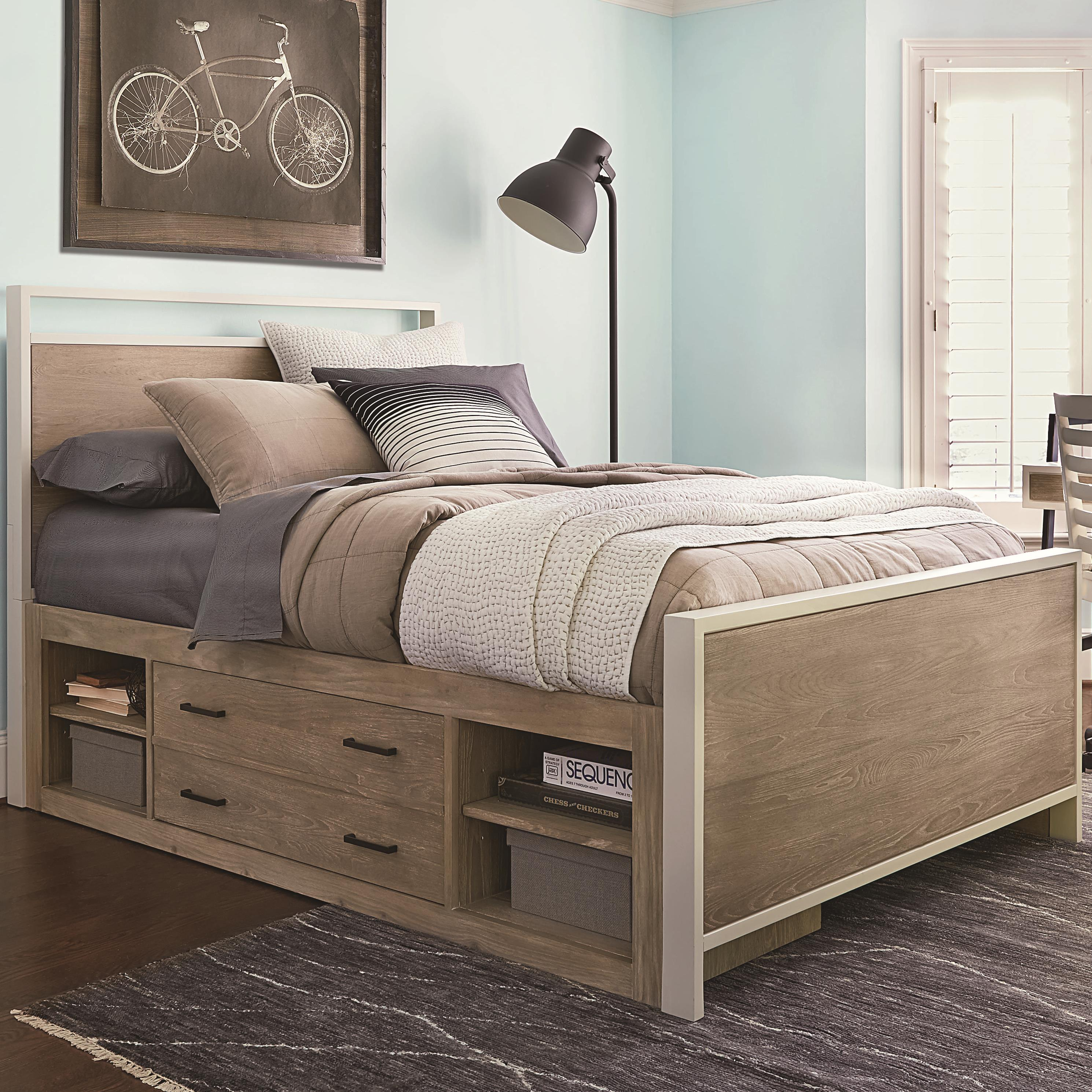 Smartstuff Myroom Full Panel Bed With Underbed Storage Reeds Furniture Panel Beds
