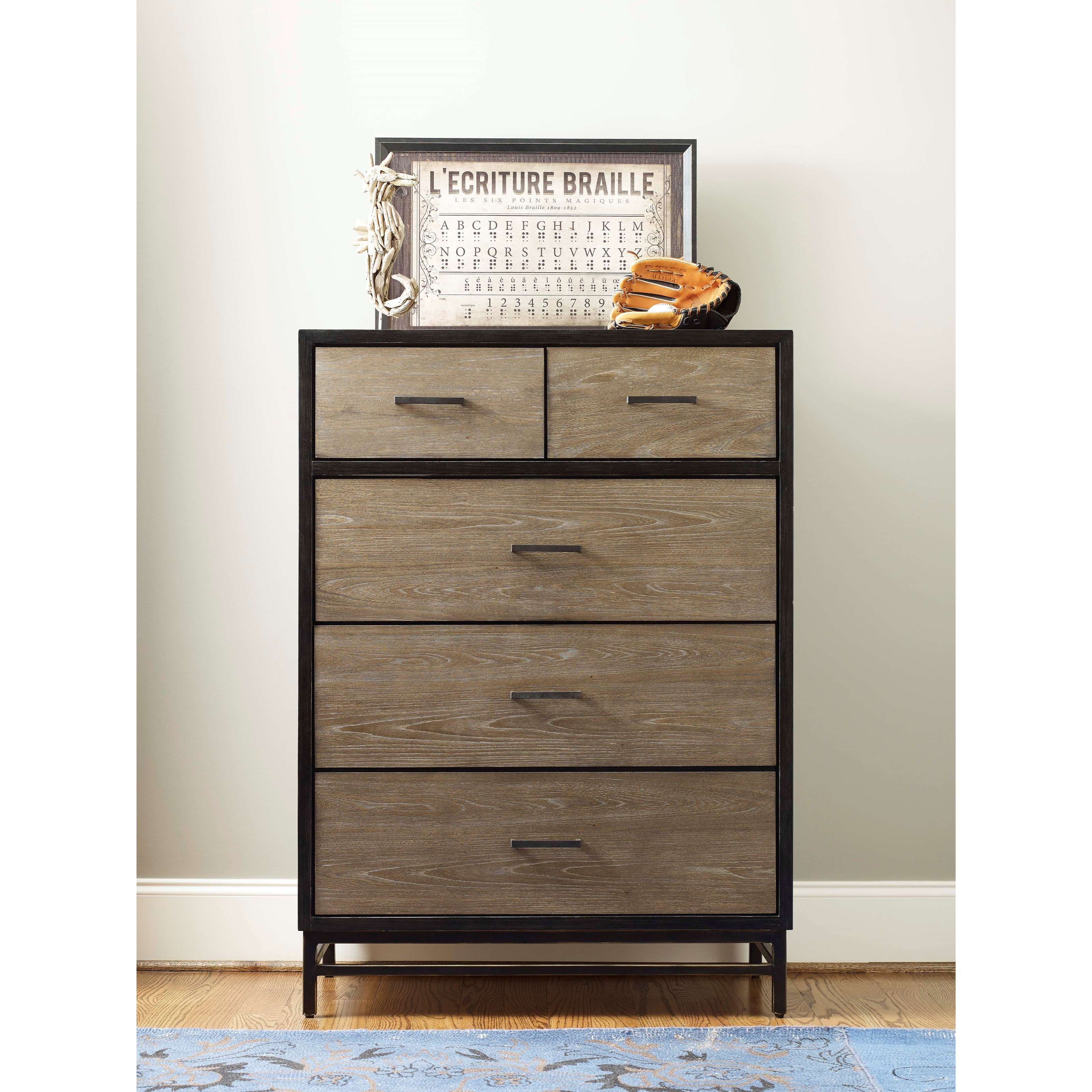 Smartstuff by universal myroom 5 drawer chest with hidden for Hidden jewelry drawer