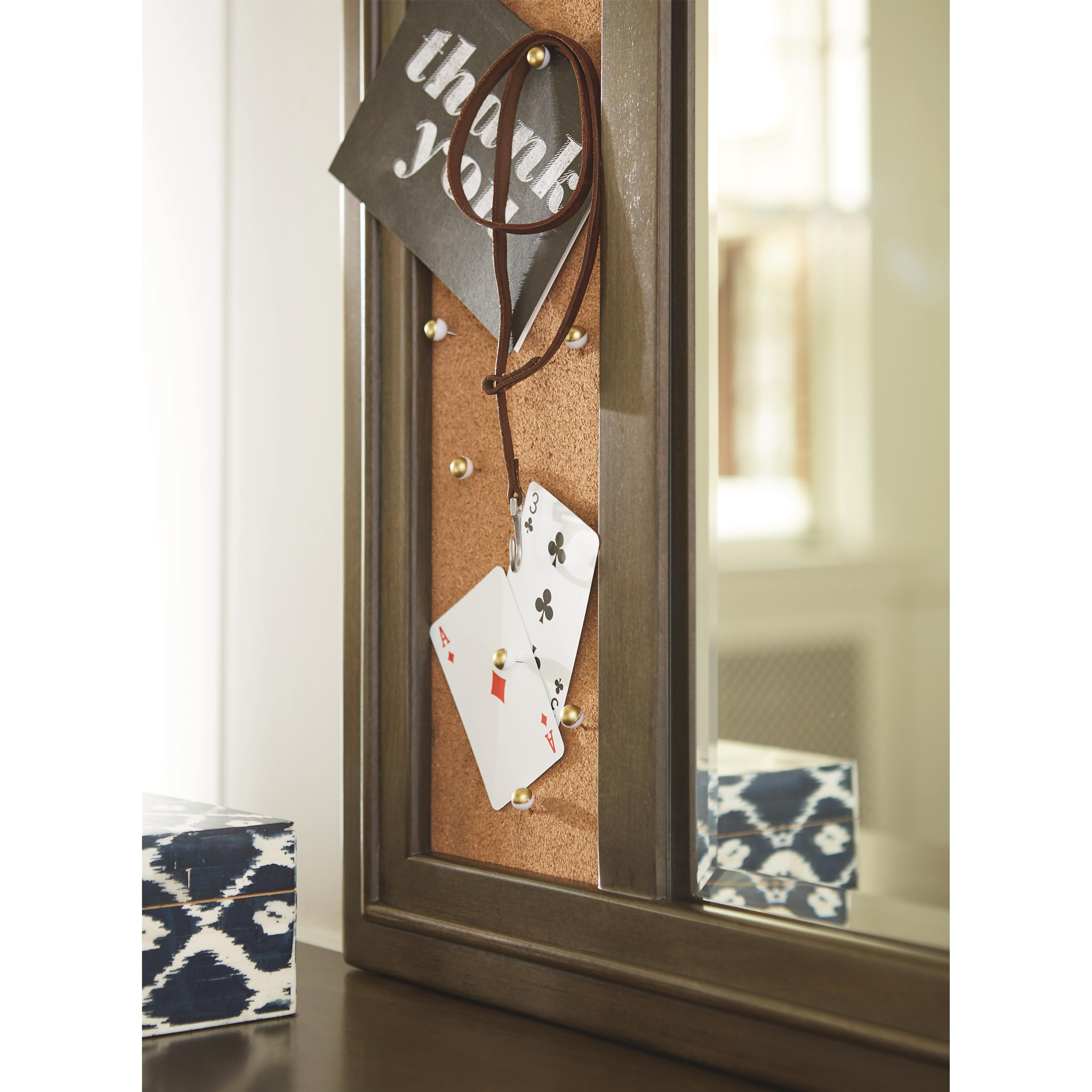 Varsity memory mirror with corkboard panel morris home for Morris home