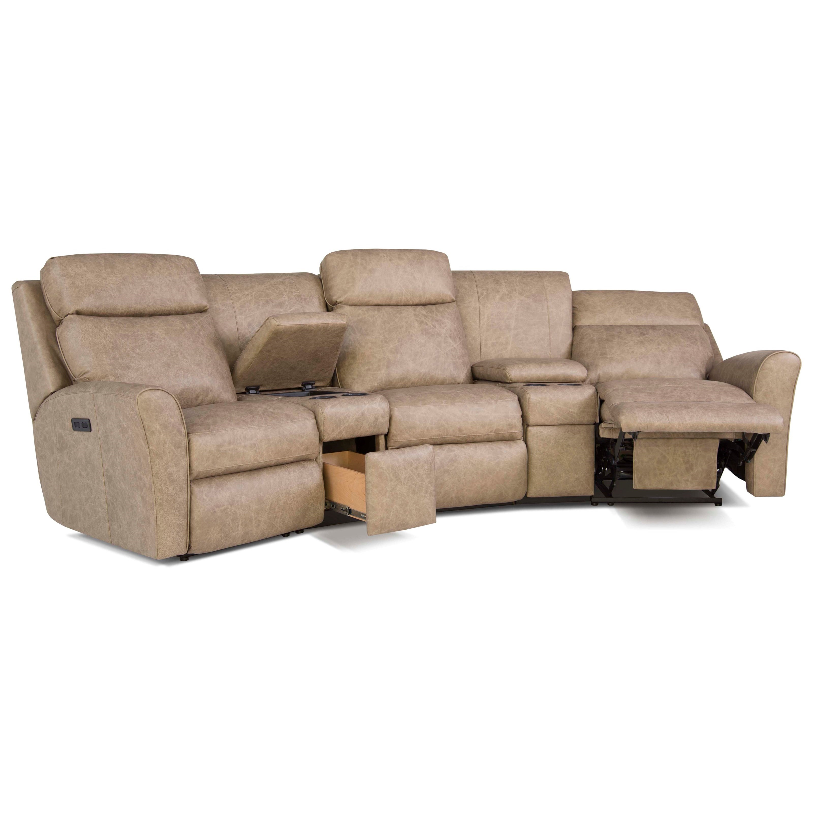 Smith brothers 418 casual motorized reclining conversation for Conversation sofa