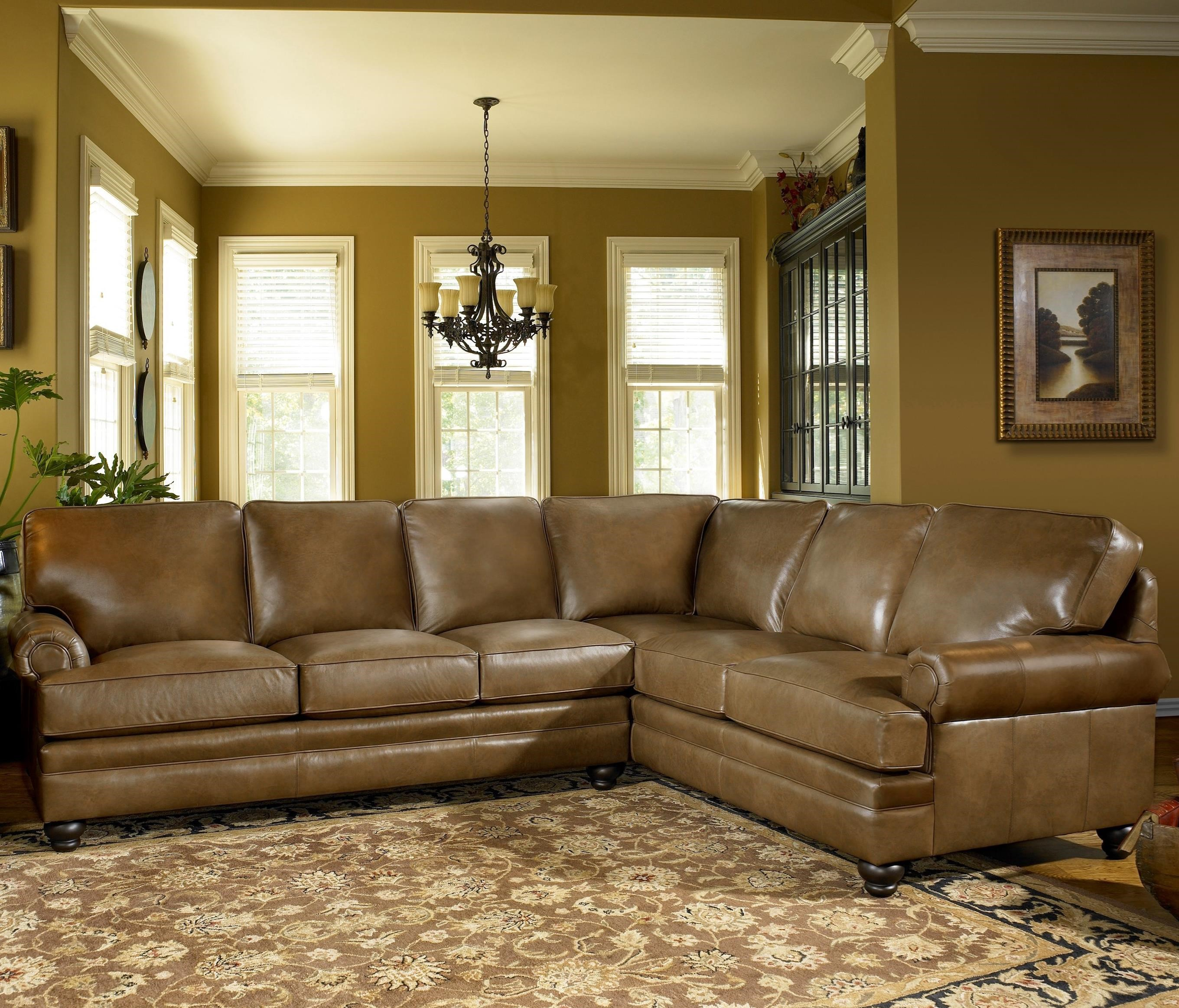 Smith Brothers 5221 Traditional Sectional Sofa With Turned Feet Sheely 39 S Furniture Appliance