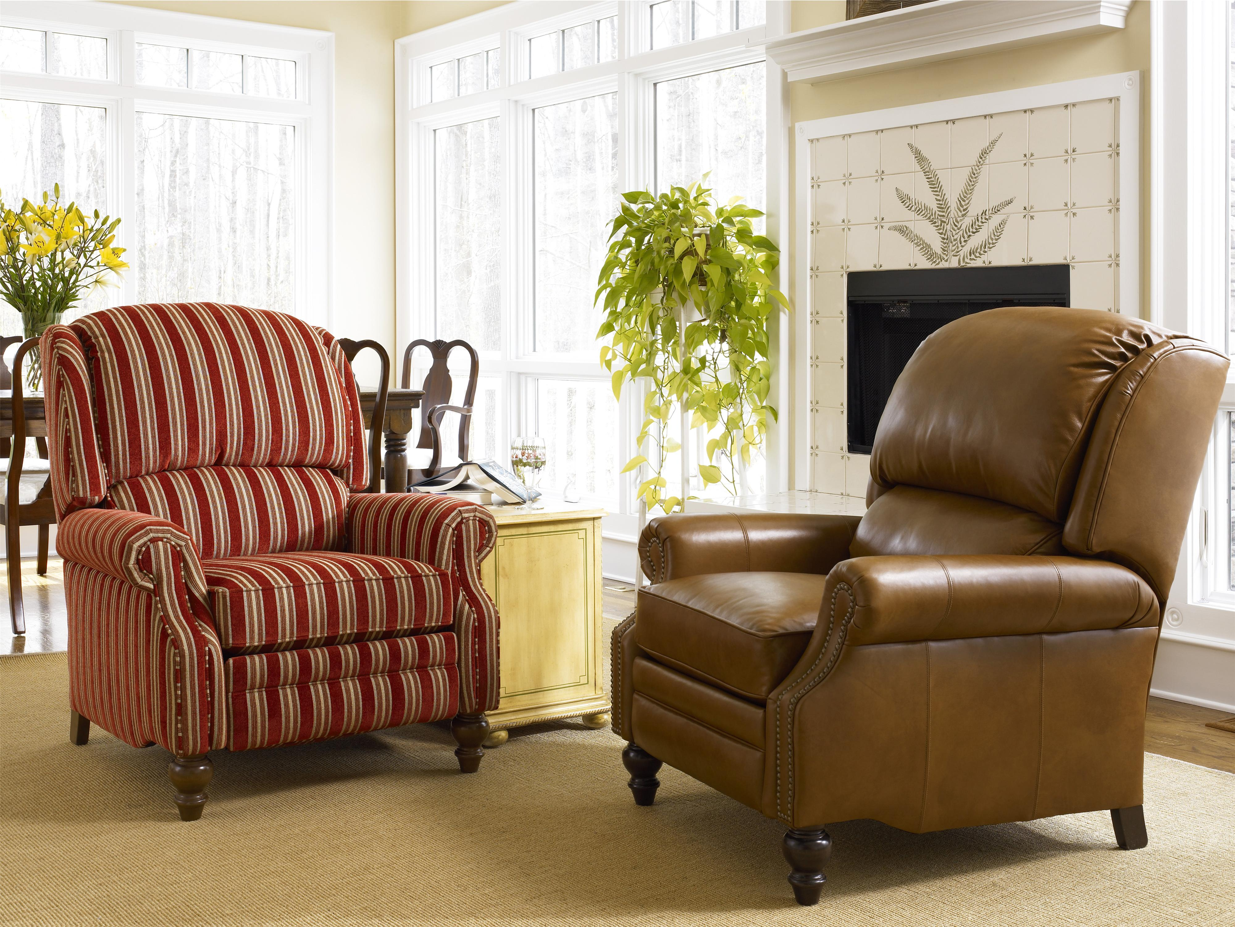 ... Reclining Chair with Rolled Arms by Smith Brothers  Wolf Furniture