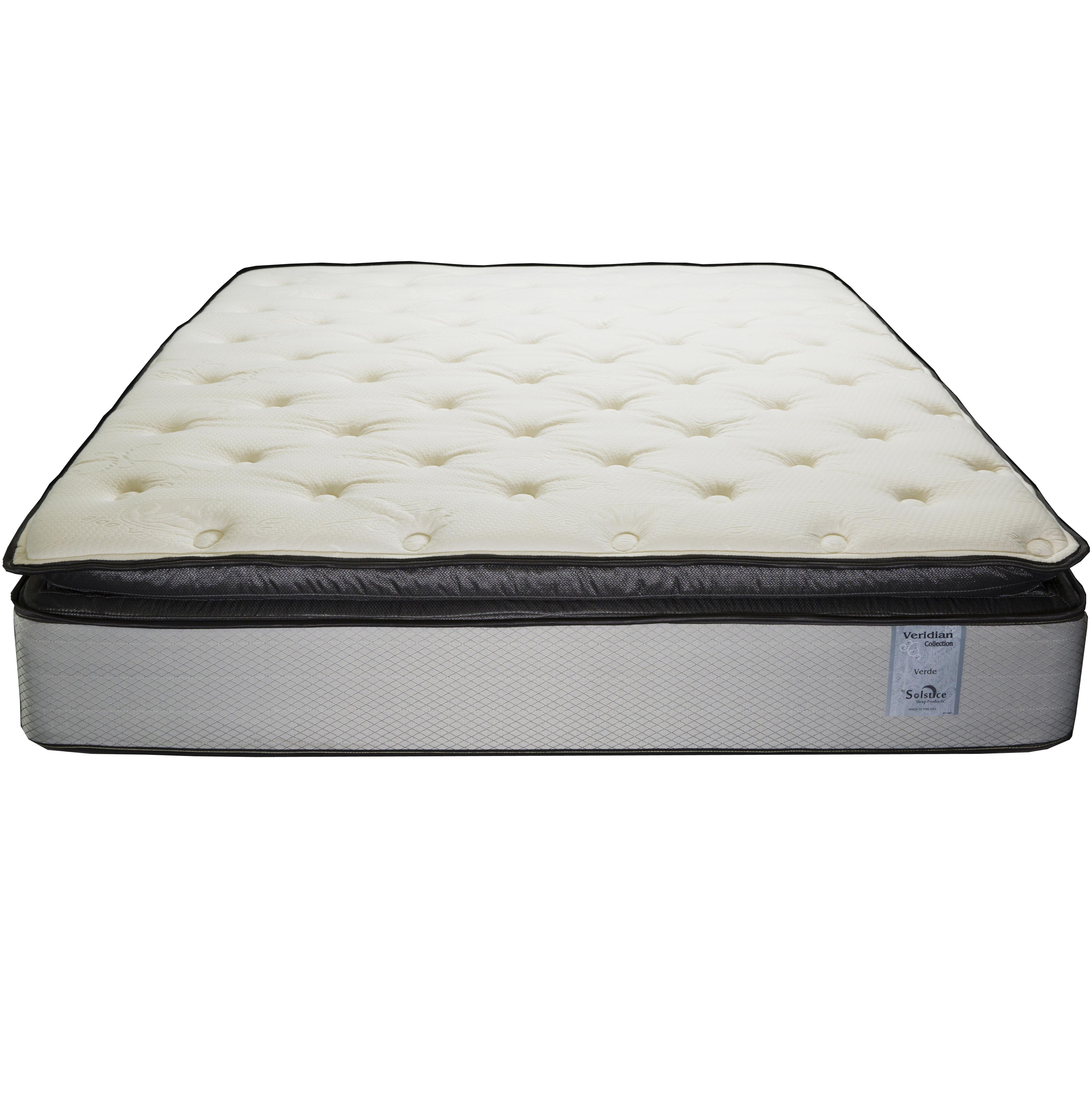 Solstice sleep products veridian verde king pillow top for Mattress furniture
