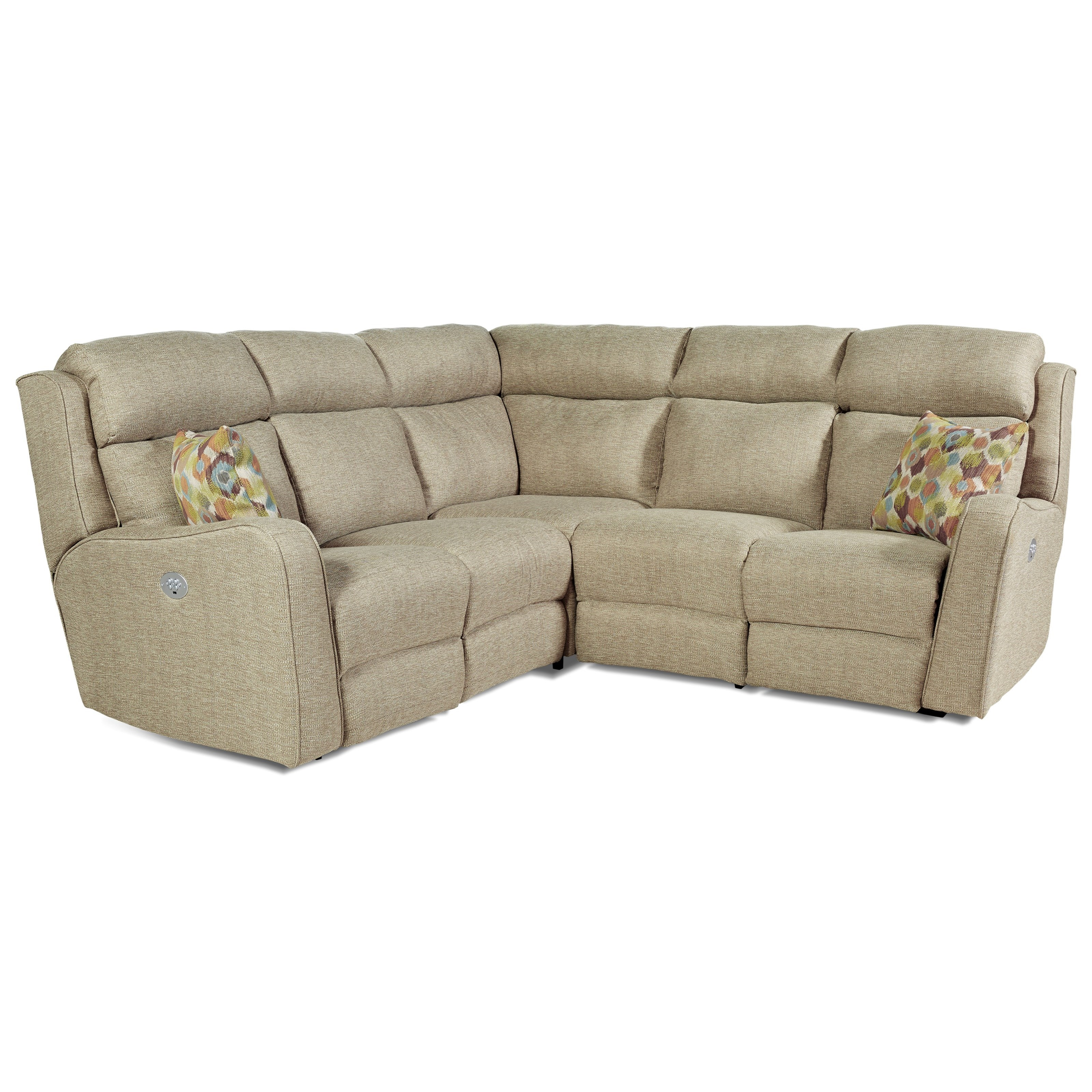 Southern motion first class 718 power reclining for Sectional sofa with 4 recliners