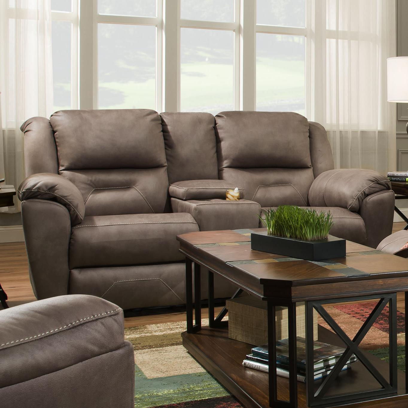 Southern motion pandora 751 78p double reclining console for Hudsons furniture