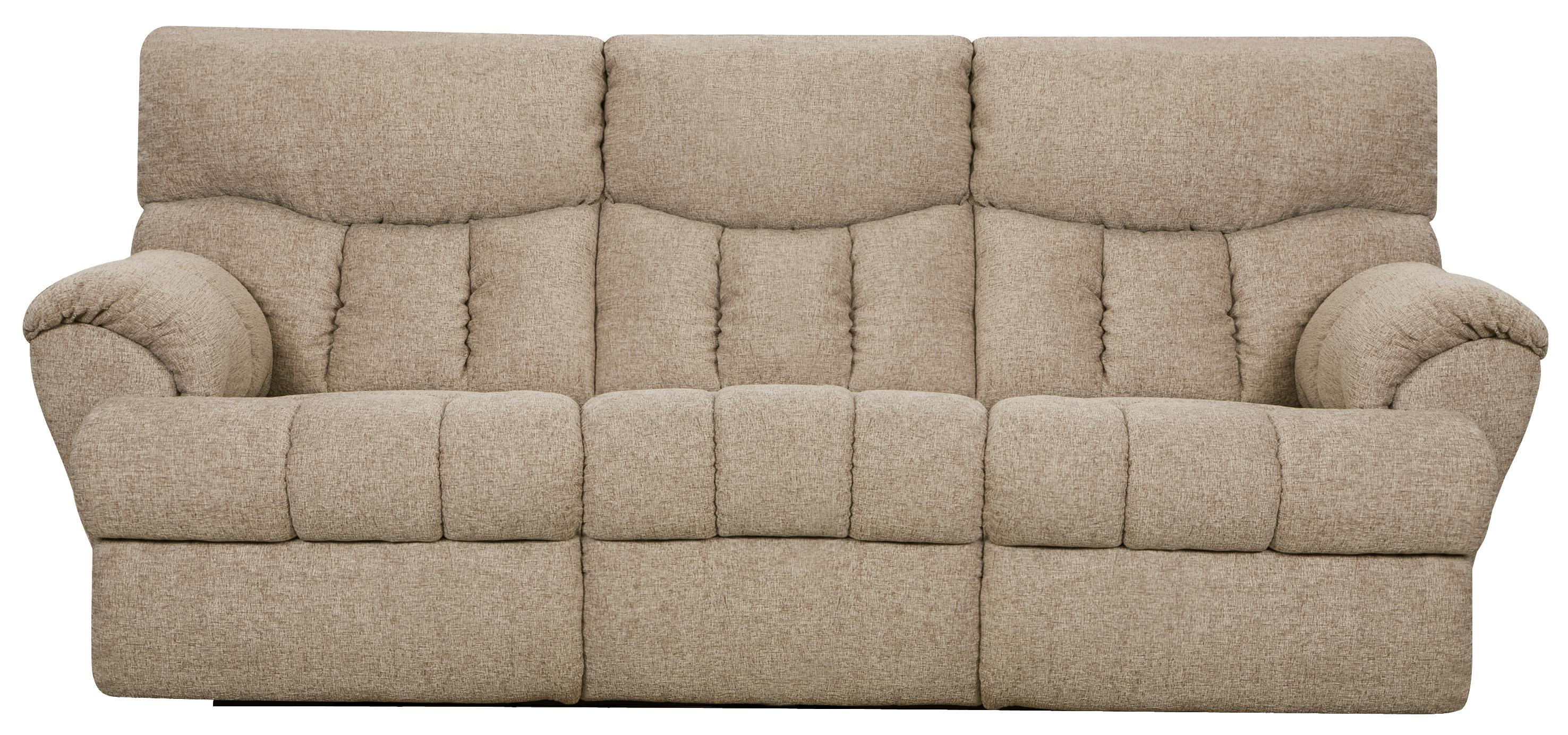 Southern motion re fueler double reclining sofa with two for Sectional sofa with reclining ends