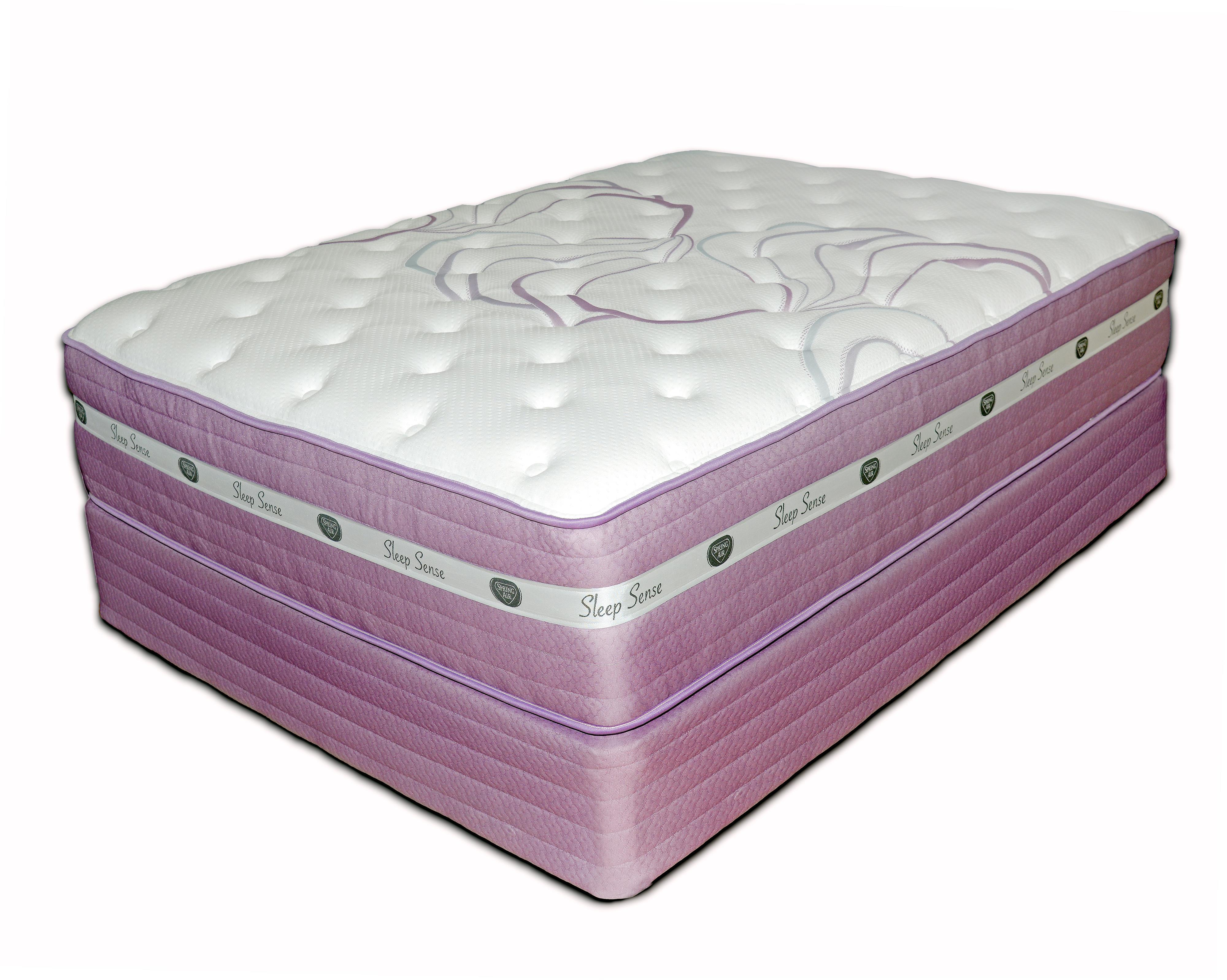 Spring air sleep sense purple cal king 14 5 plush hybrid for Spring air mattress