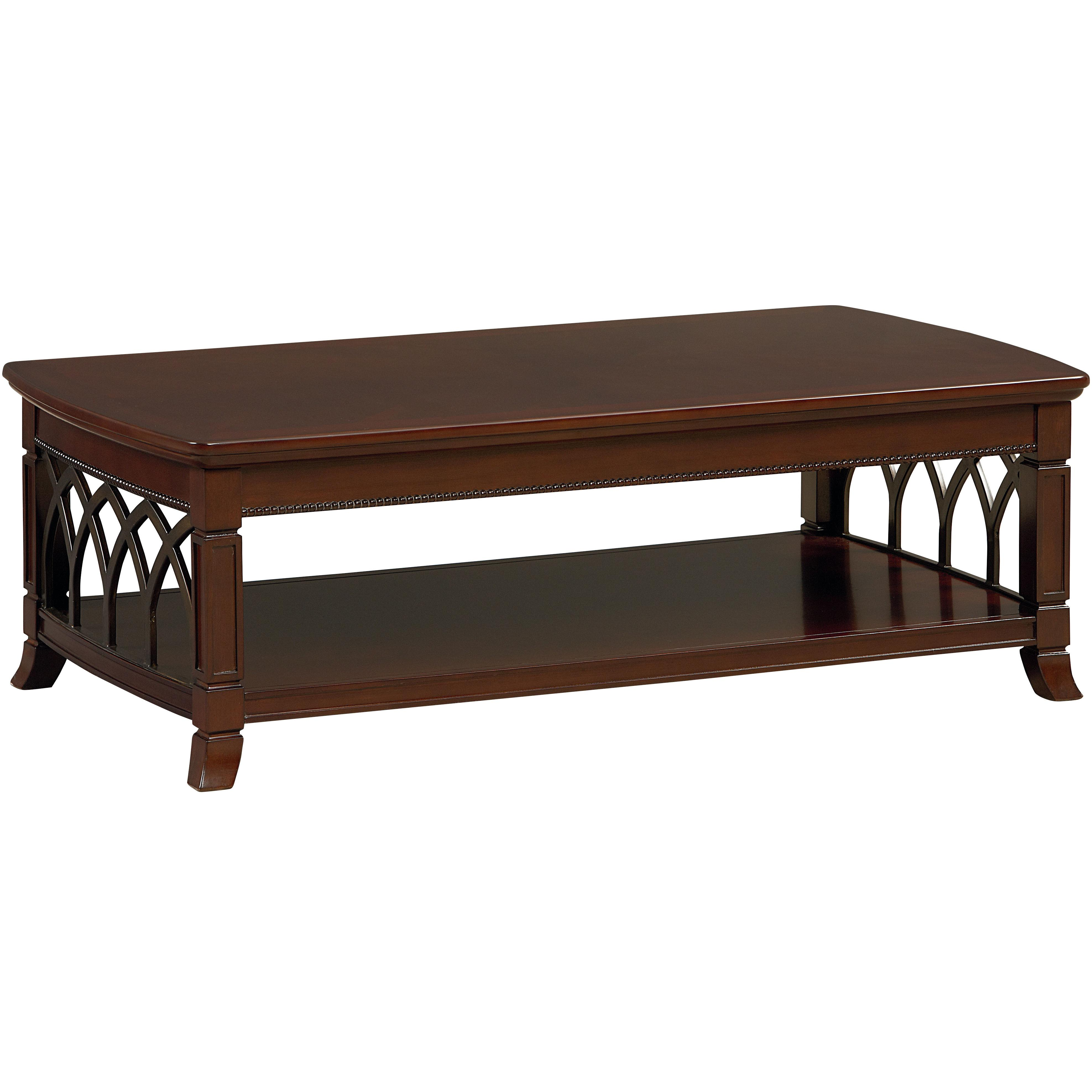 Standard Furniture Abbey Coffee Table with Shelf Knight