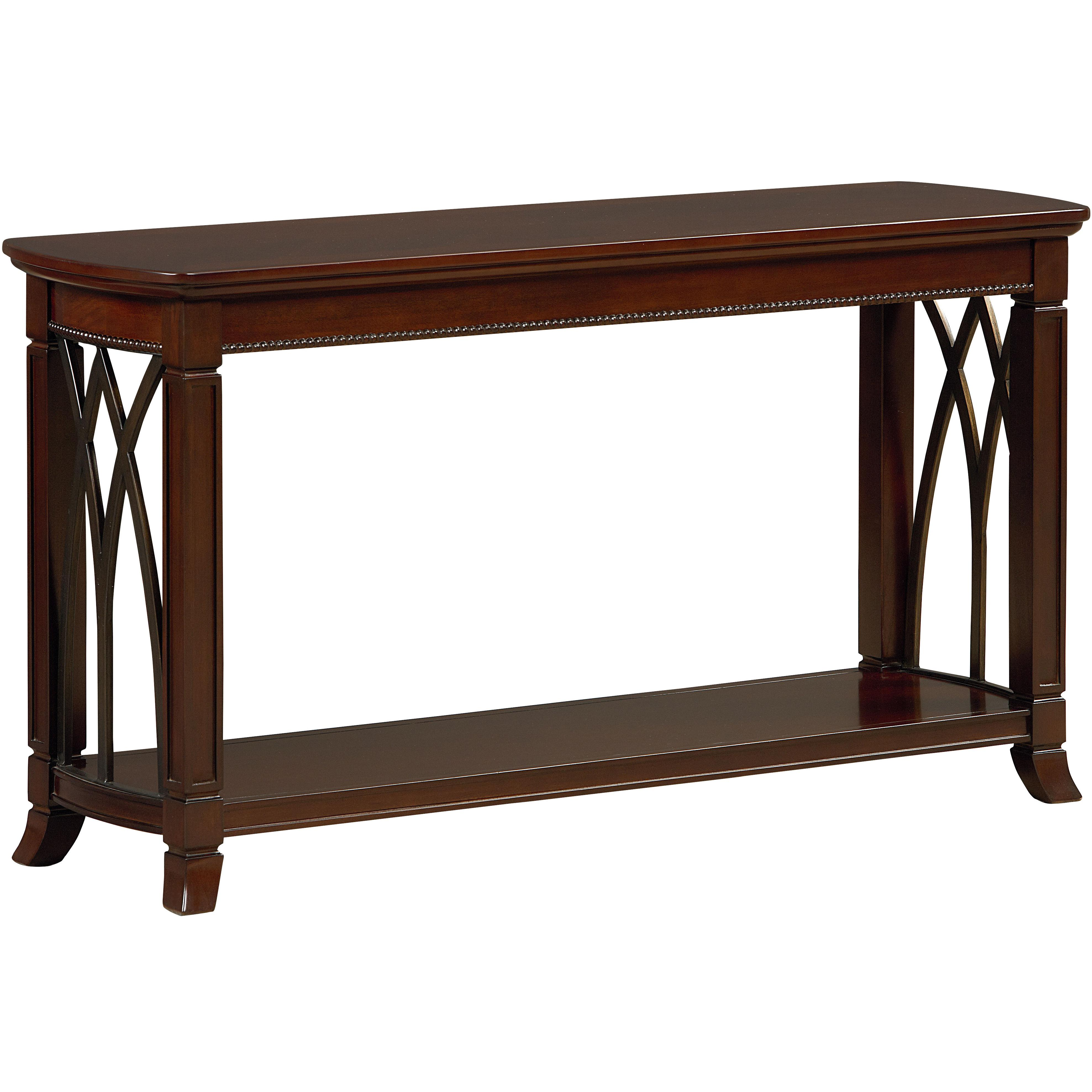 Standard Furniture Abbey Sofa Table with Shelf Household