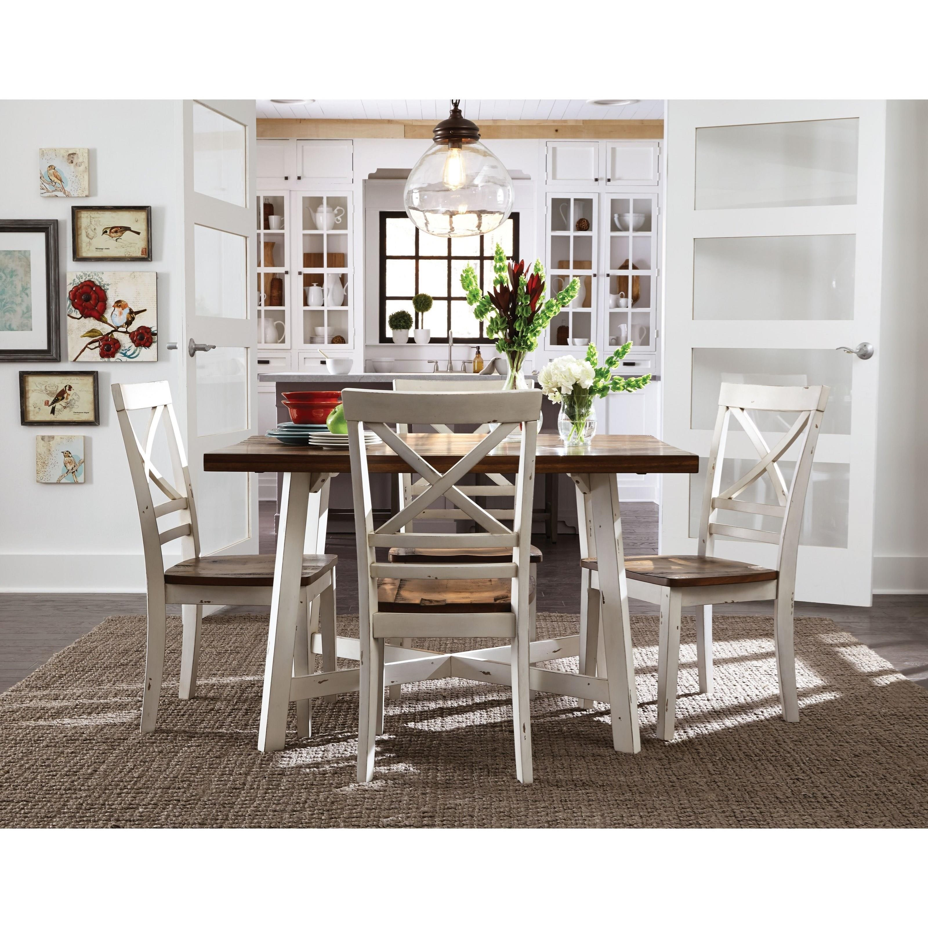 Standard furniture amelia 19082 two tone table and chair for All white dining room