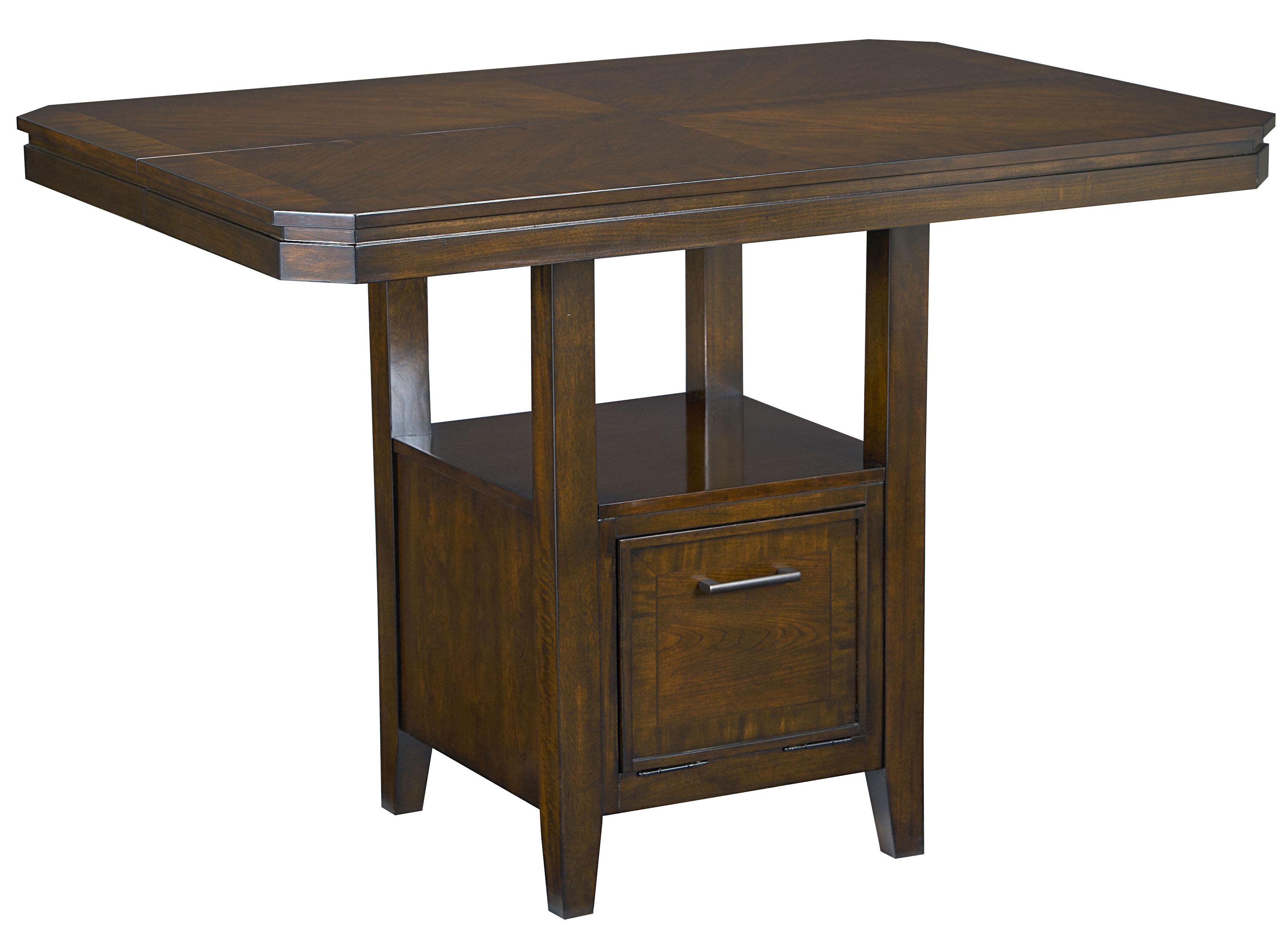 Standard furniture avion 17836 counter height table with for Standard dining table