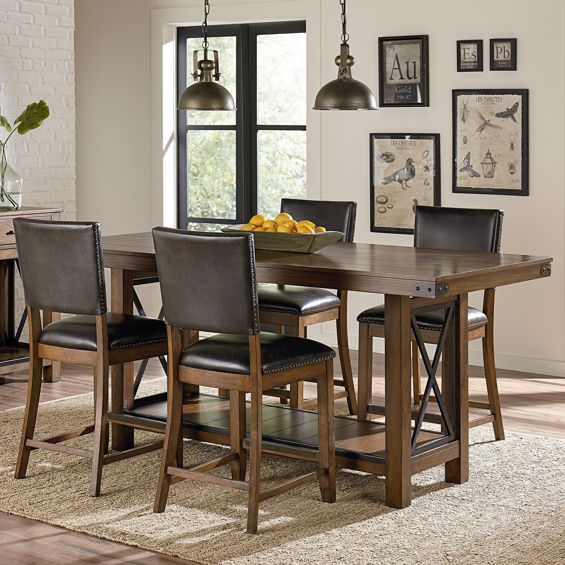 Standard furniture benson counter height rustic table and for Rustic counter height table