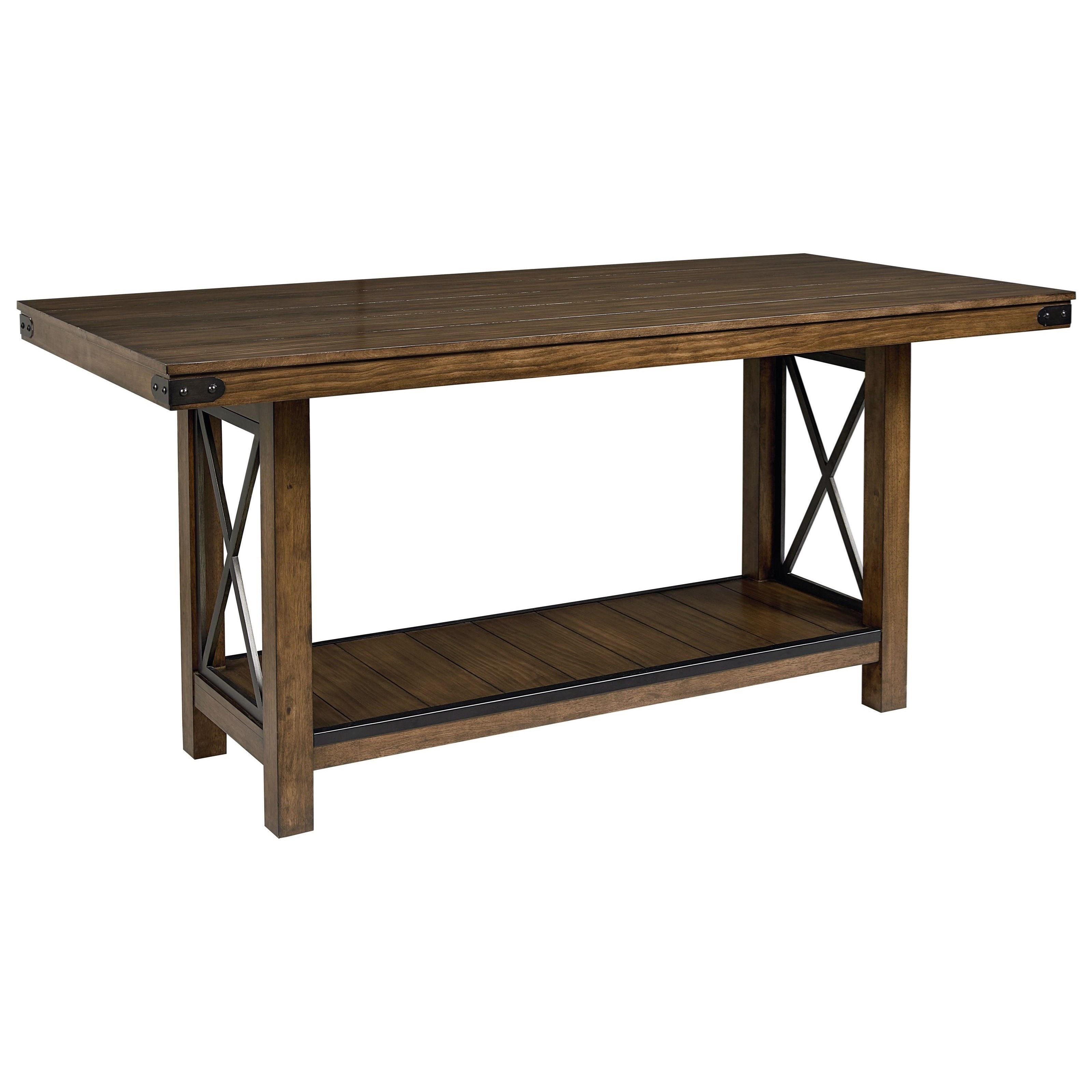 Standard furniture benson counter height table with for Table 6 kitchen and bar canton ohio